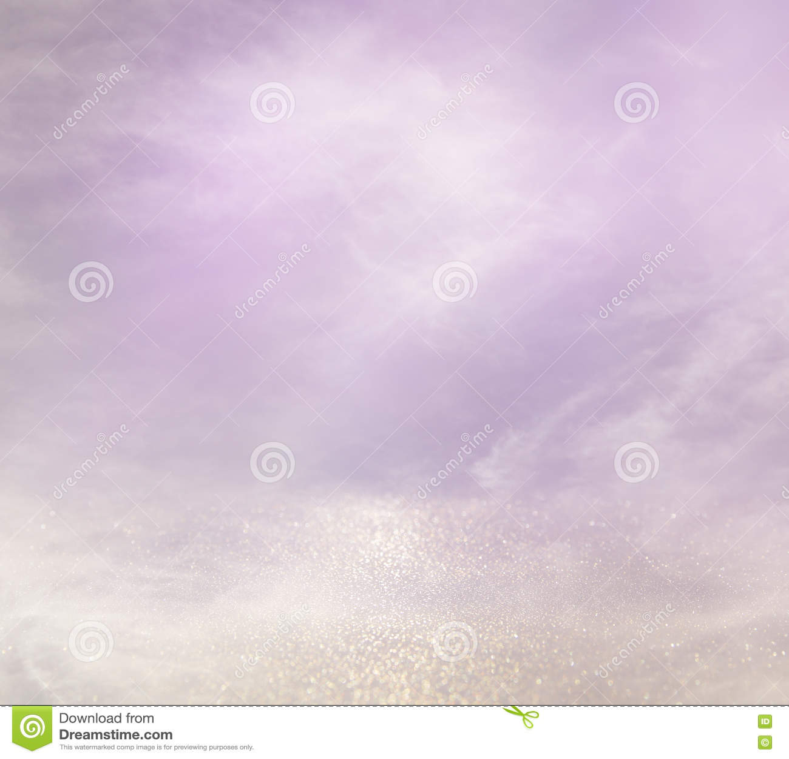 Lumières abstraites de rose, mauve-clair et argentées de bokeh
