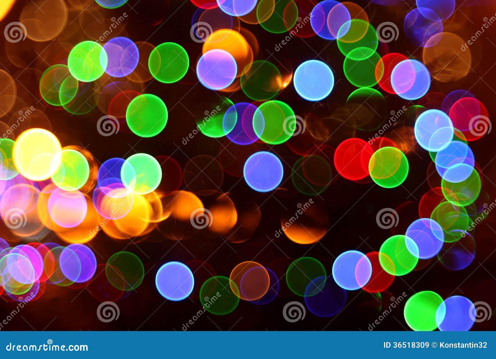 Lumières abstraites, ville instantanée de nuit