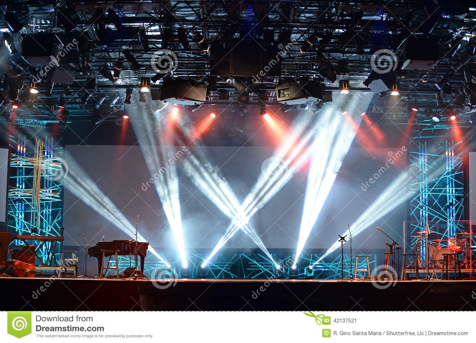 Lumières d étape de concert