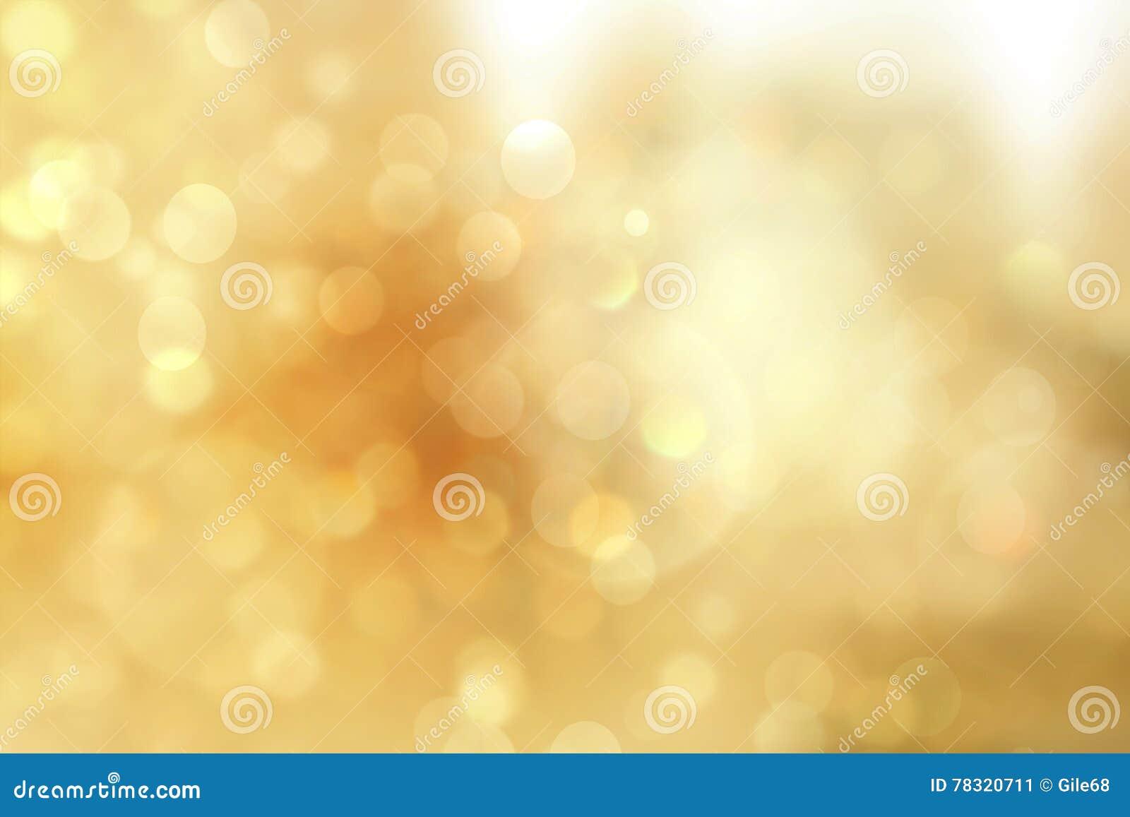 Lumières de Noël d or Fond de luxe mou de Bokeh de Noël