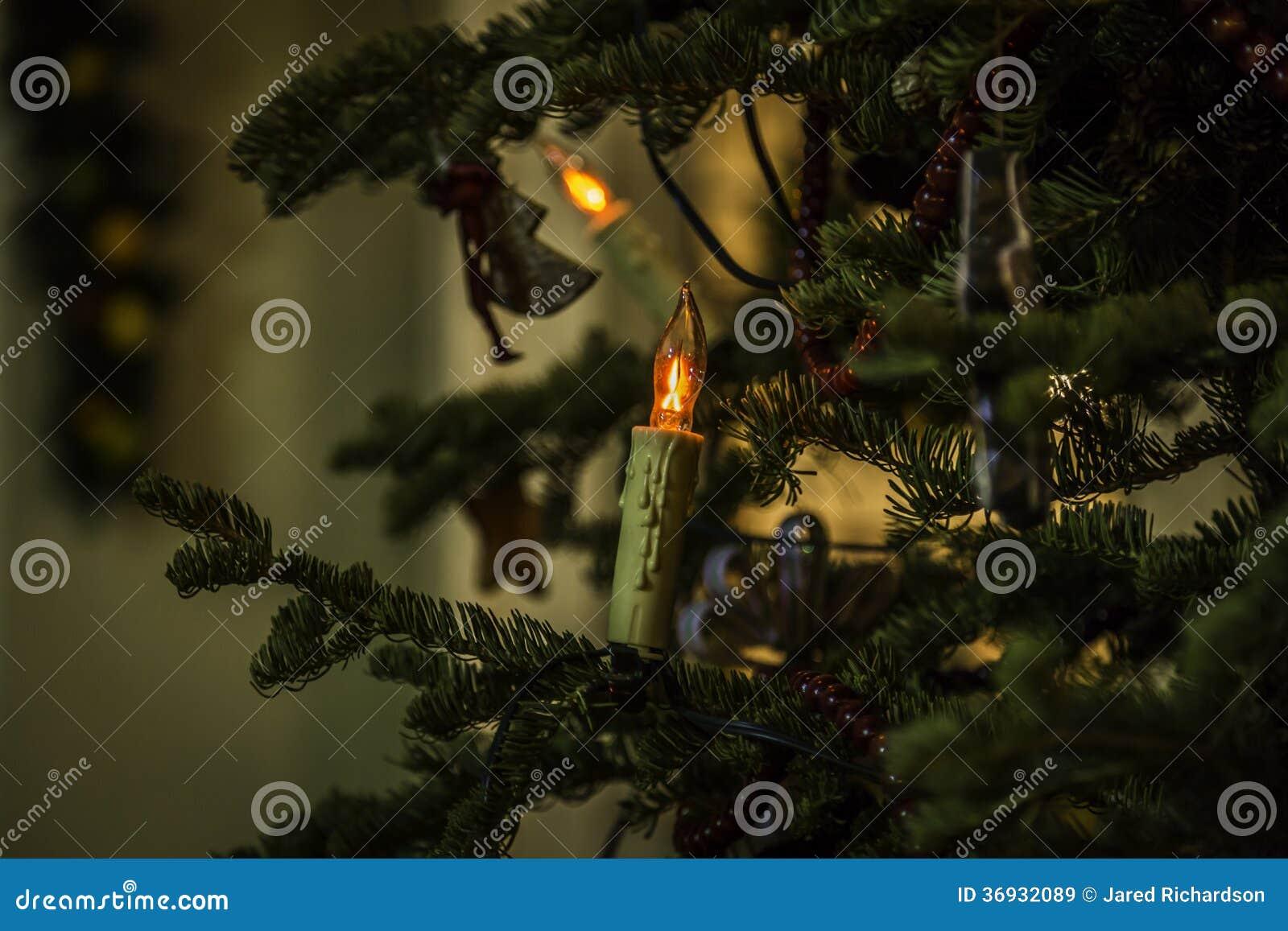 Lumières de Noël en dehors de la Chambre de ruche