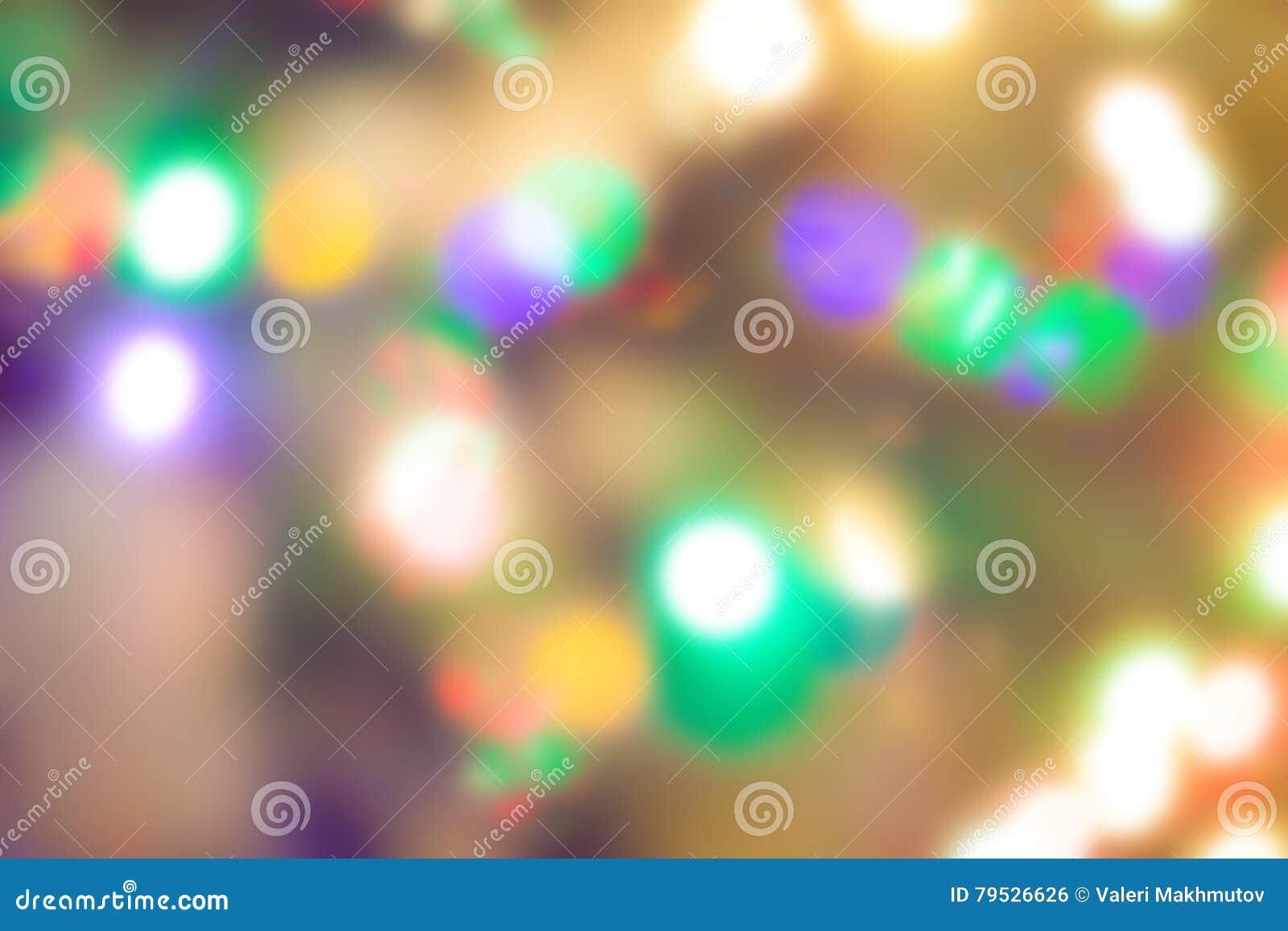 Lumières de Noël, fond unfocused