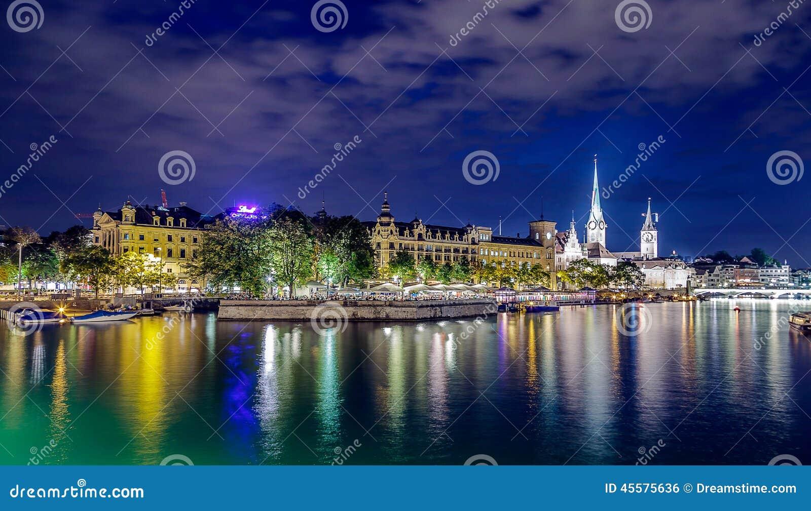 Lumières de ville de Zurich