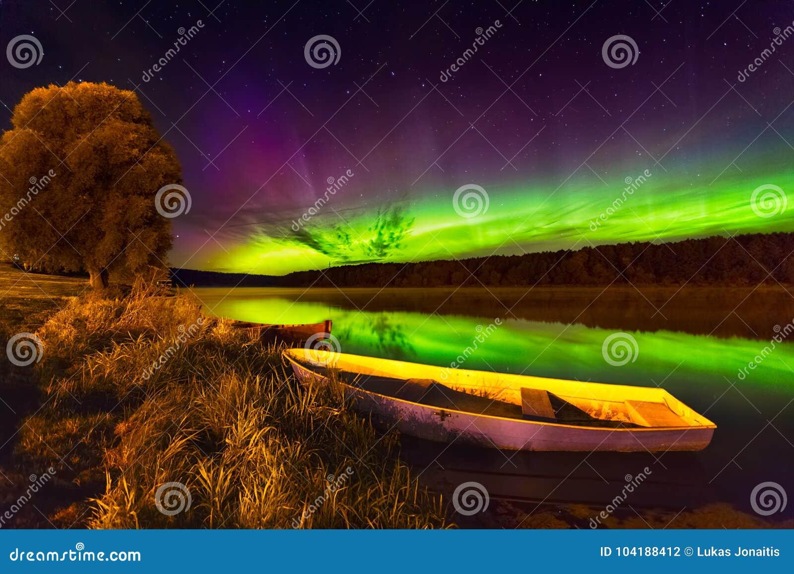 Lumières du nord en Lithuanie