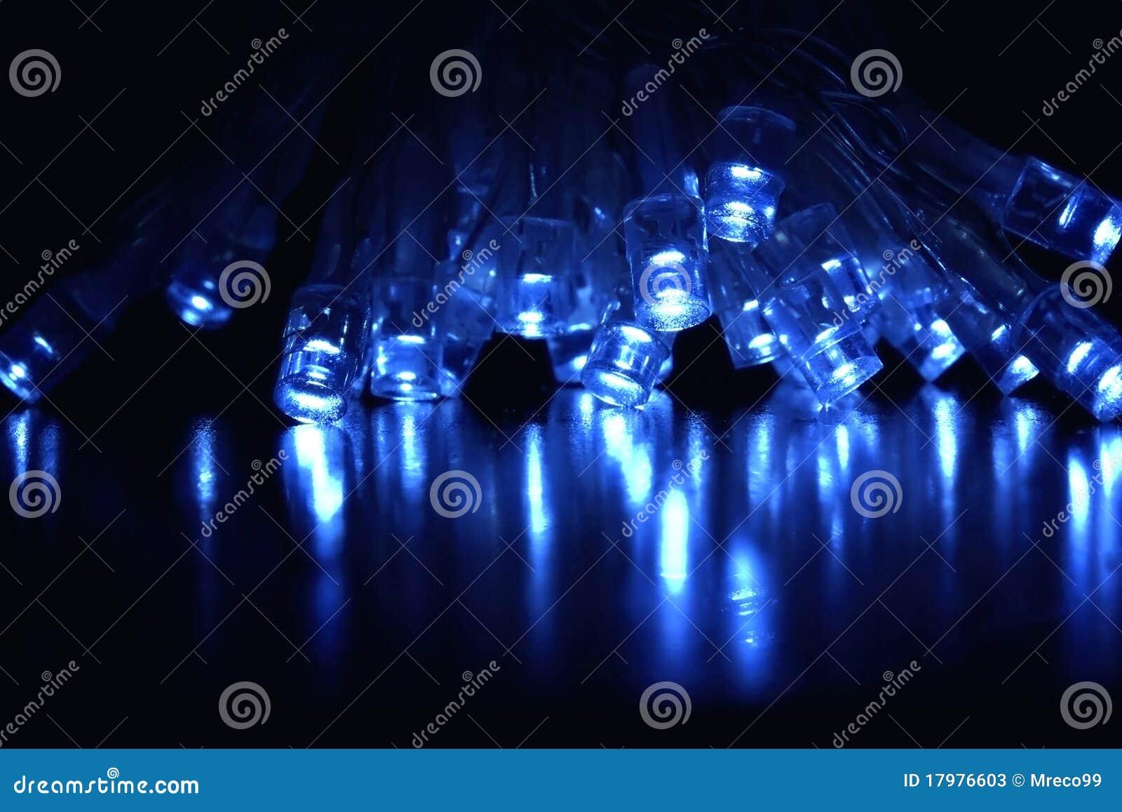Lumières fraîches du bleu DEL