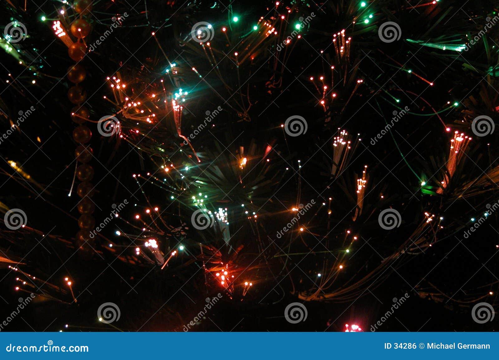 Lumières optiques 1 de fibre