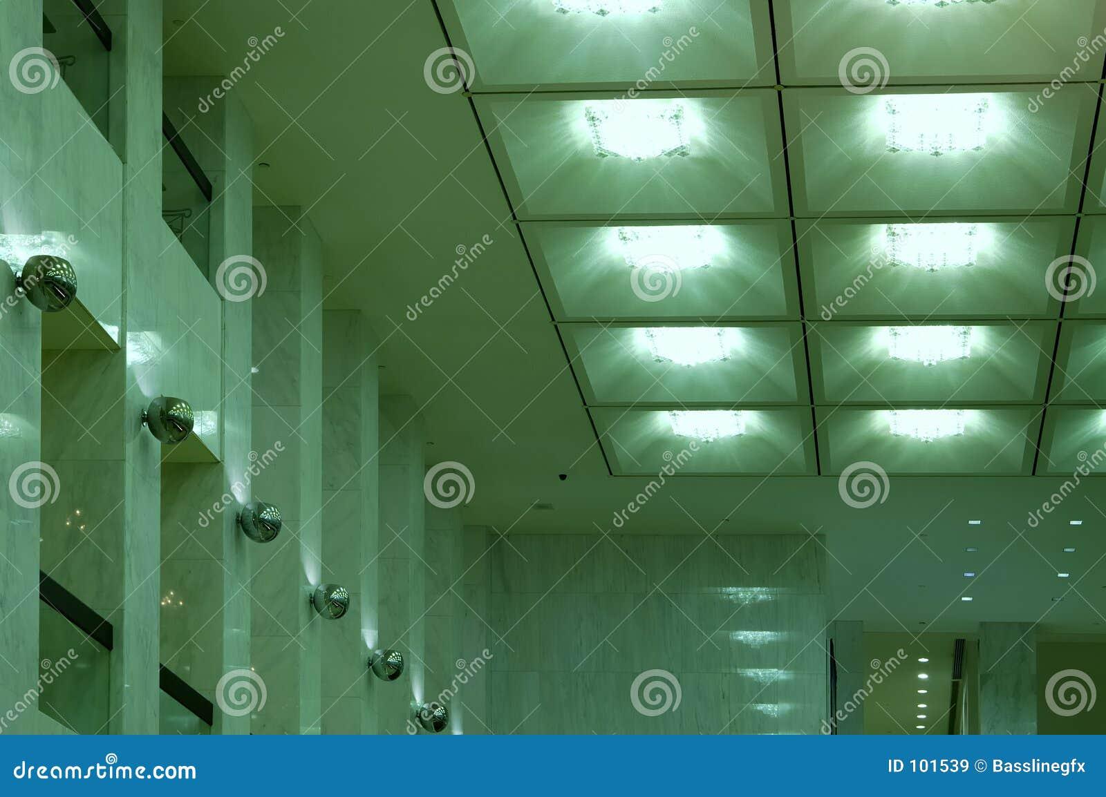 Lumières vertes d entrée
