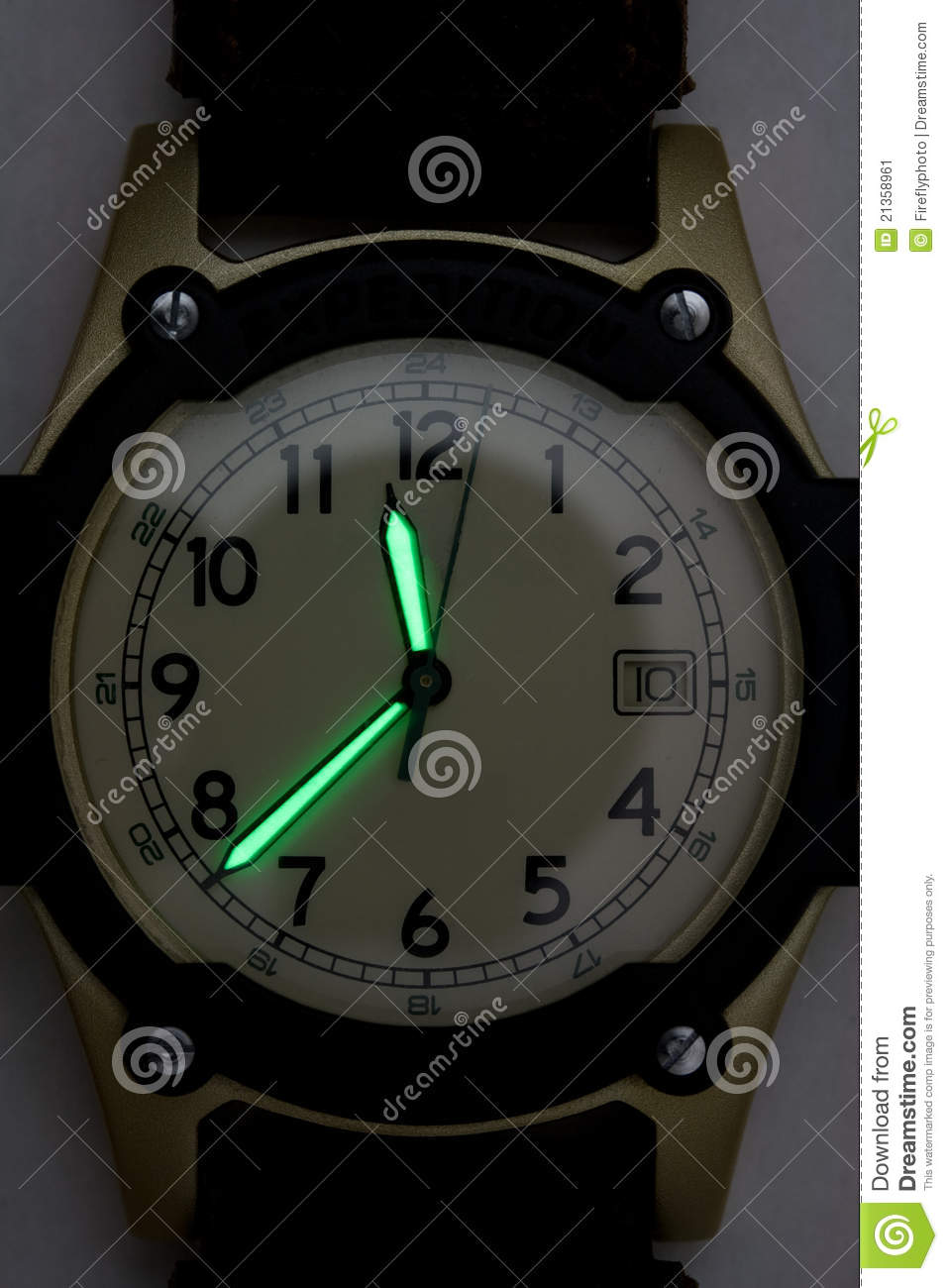 Luminescent hands on wrist watch stock image image 21358961 for Luminescence watches