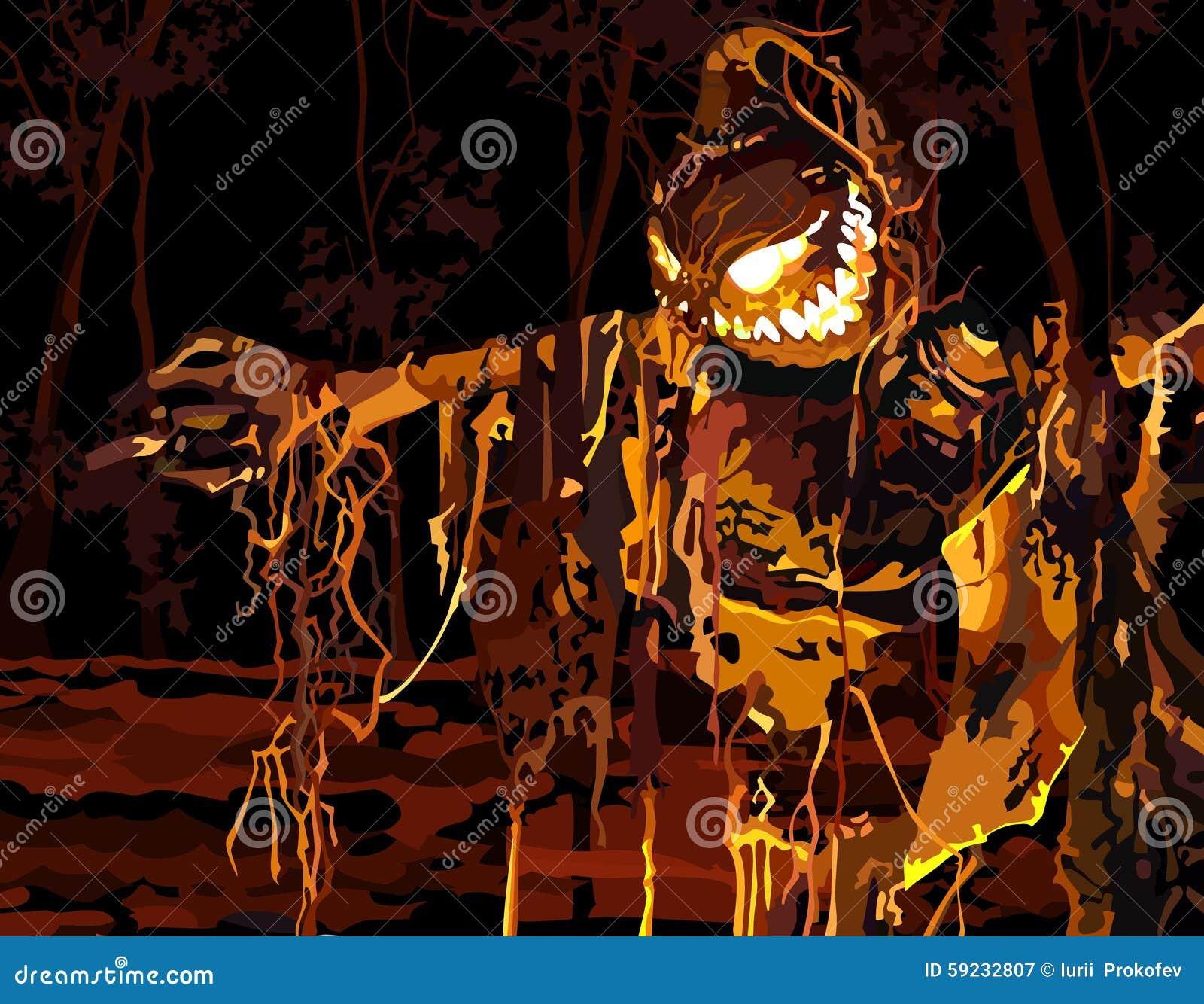 Download Luminoso Relleno En Un Bosque Oscuro Ilustración del Vector - Ilustración de oscuro, holiday: 59232807