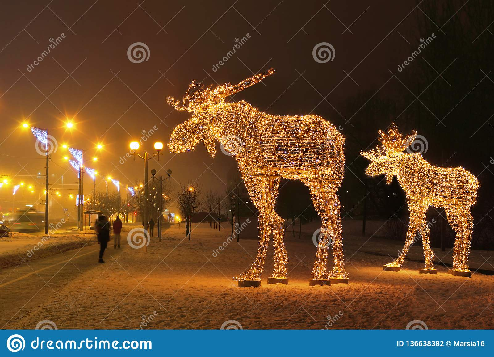 Two Luminous Moose