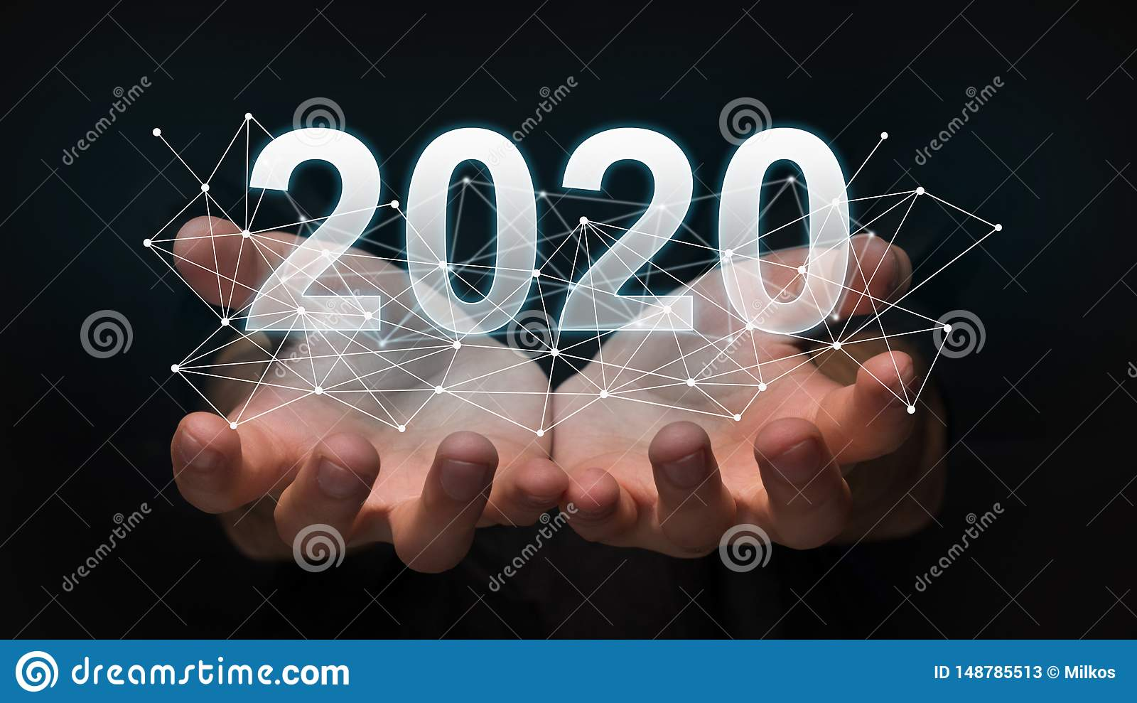 New 2020 year technology concept.