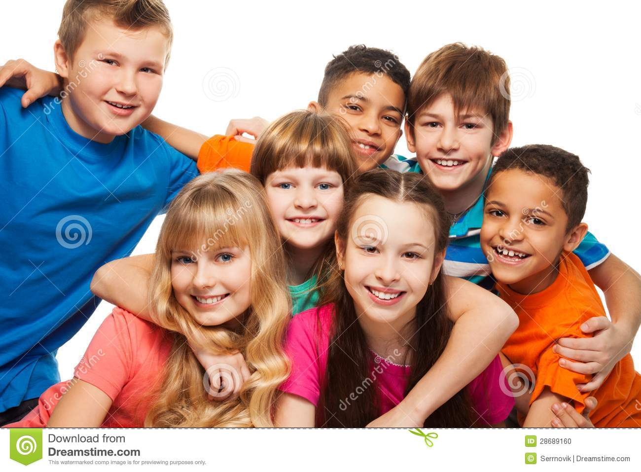 Lump of happy kids stock photo. Image of friends, cute ...