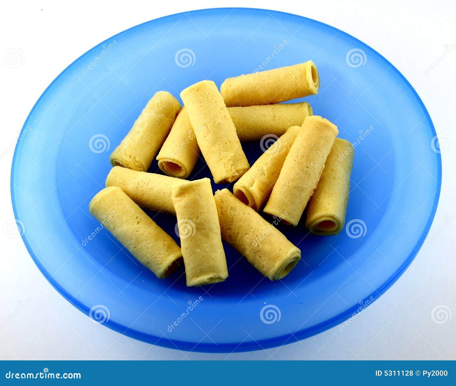 Download Lumpie cinesi del forno fotografia stock. Immagine di piastra - 5311128