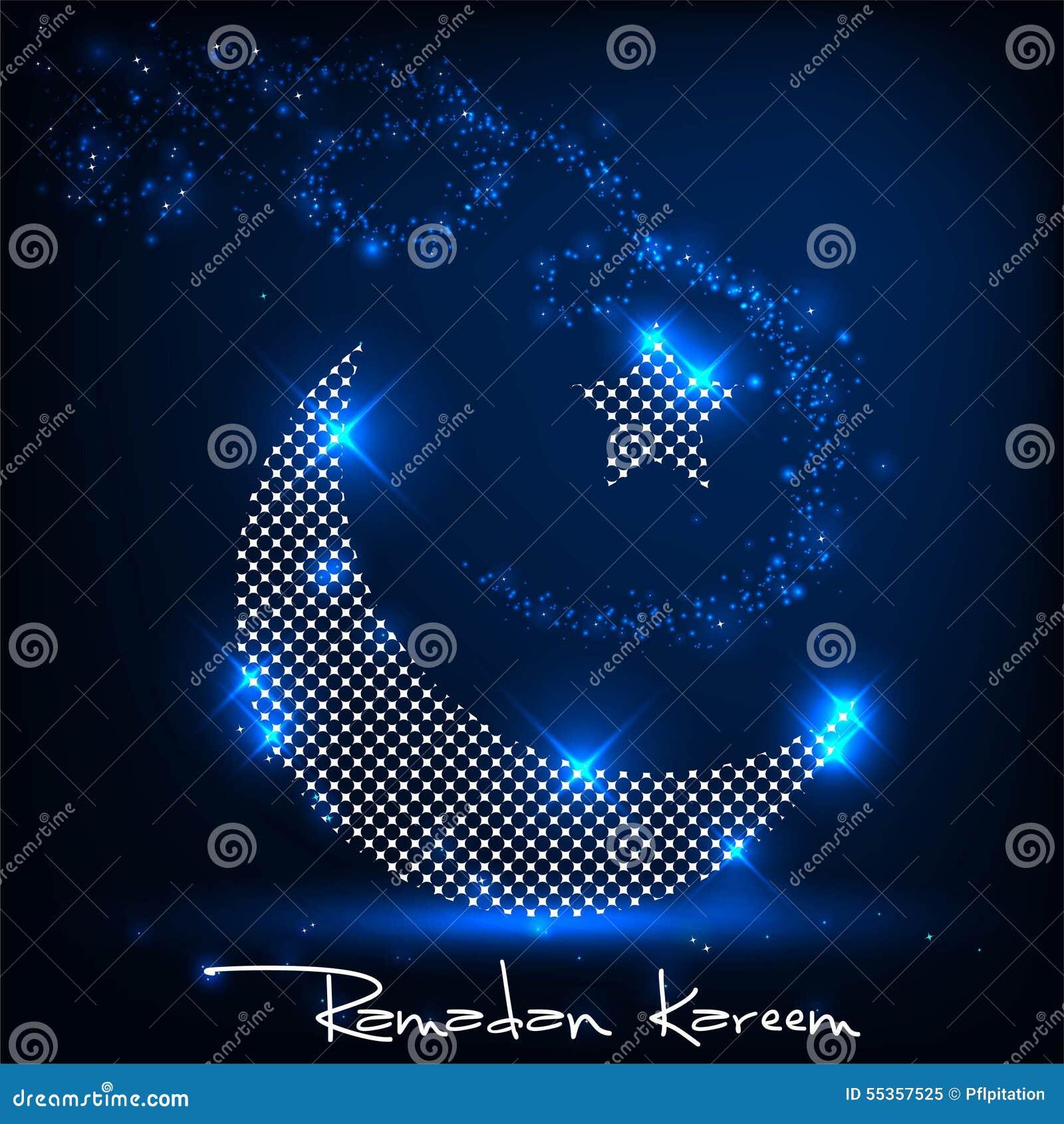 Luna brillante Ramadan Kareem
