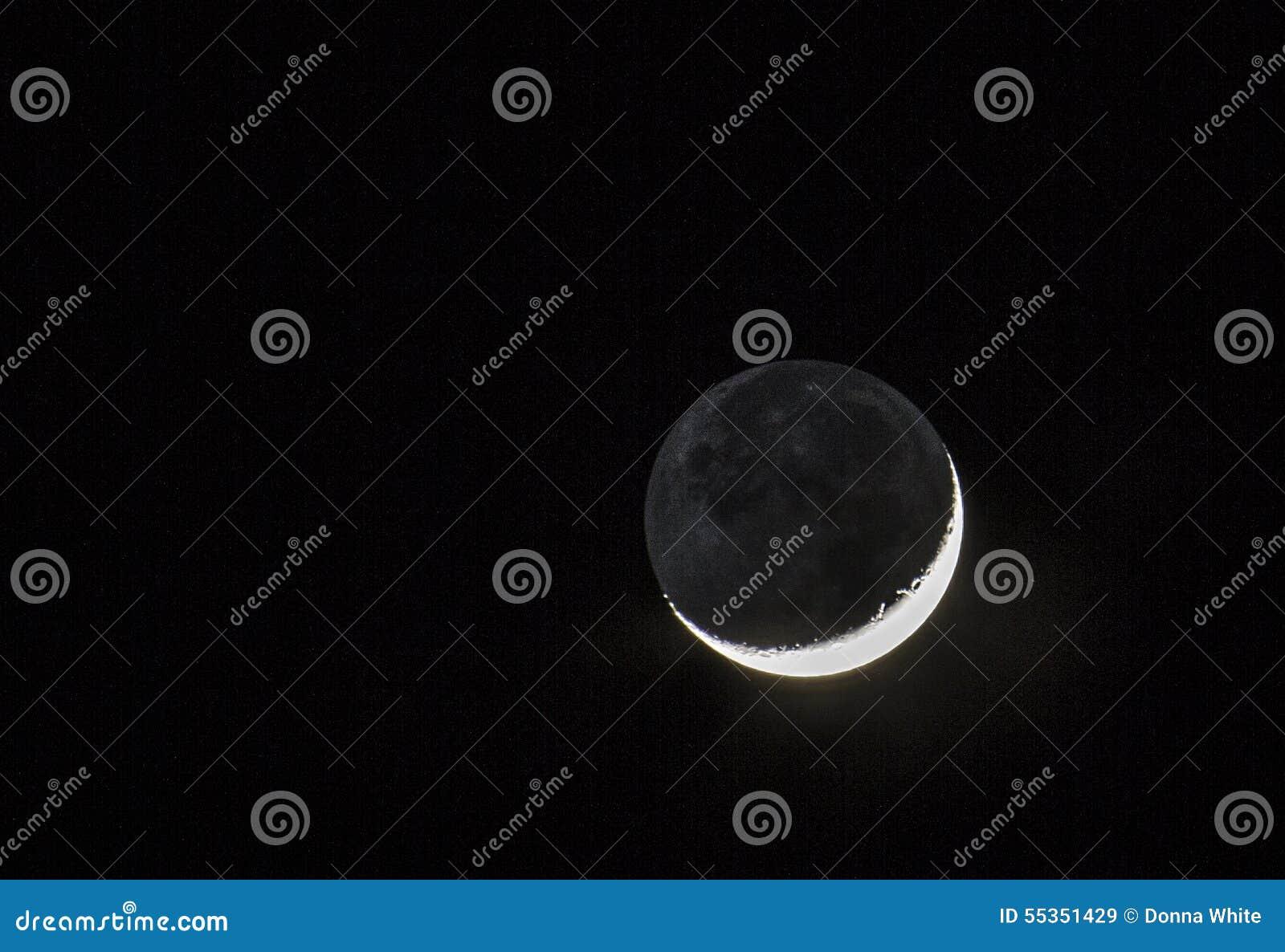 Luna con ombra alla notte