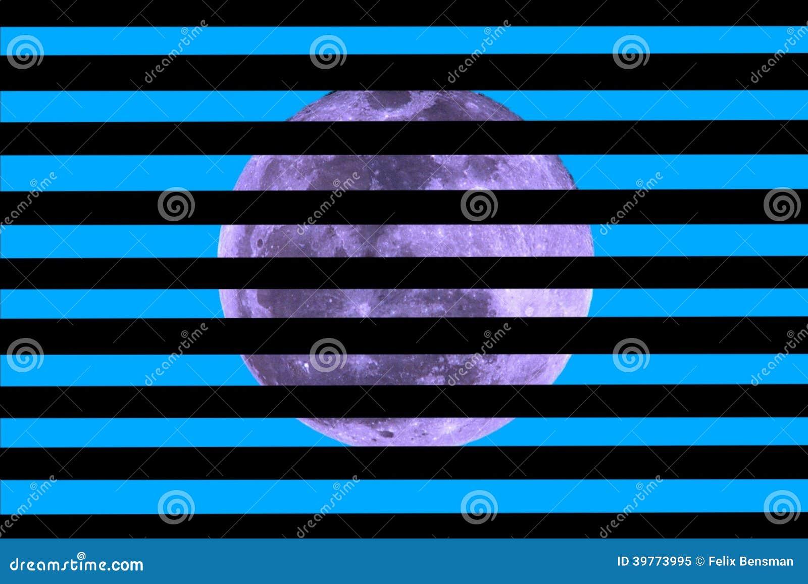 Luna en fondo azul