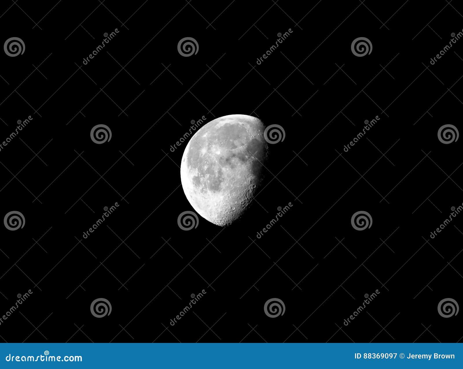 Luna gibbous calante
