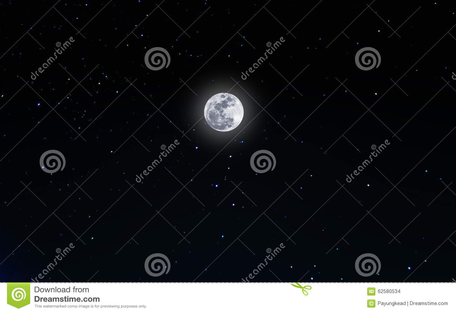 Imágenes Comunes Del Luna Llena En El Cielo Nocturno