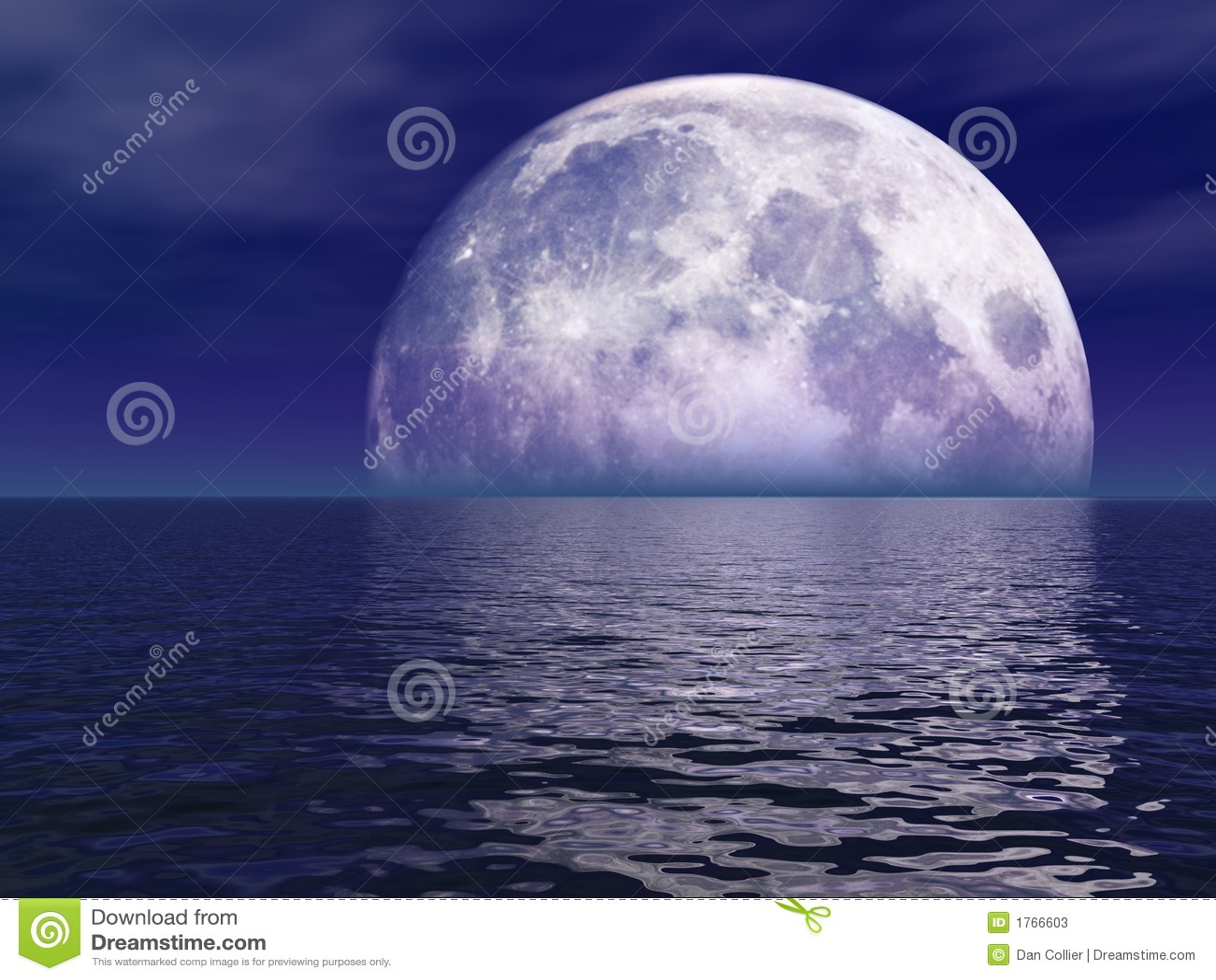 Luna Llena sobre el agua
