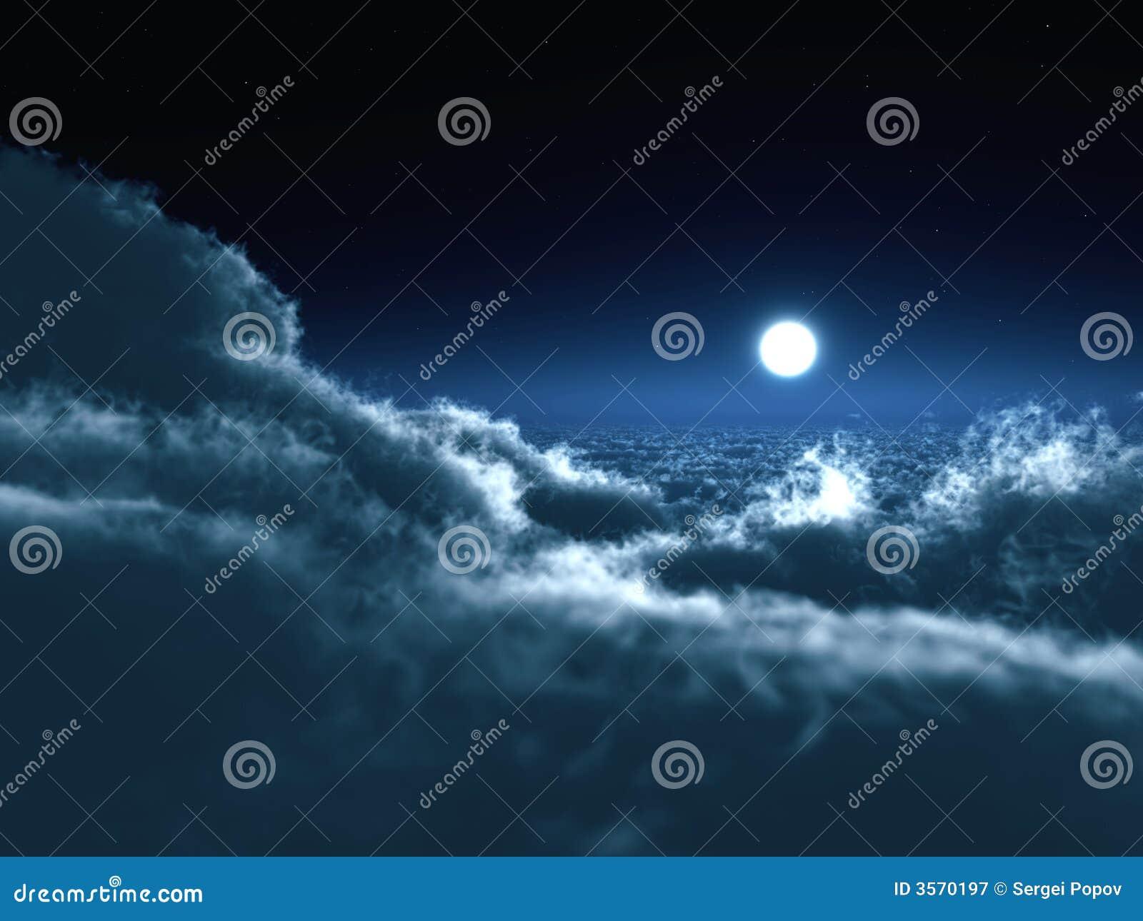 Luna nella nerezza