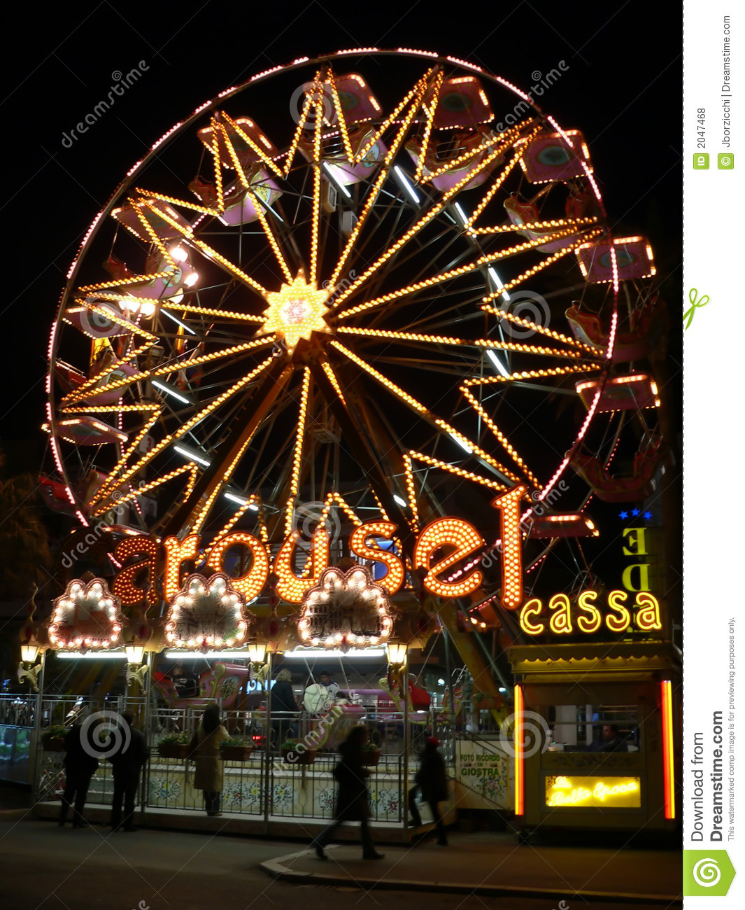 luna park in italy royalty free stock photos image 2047468