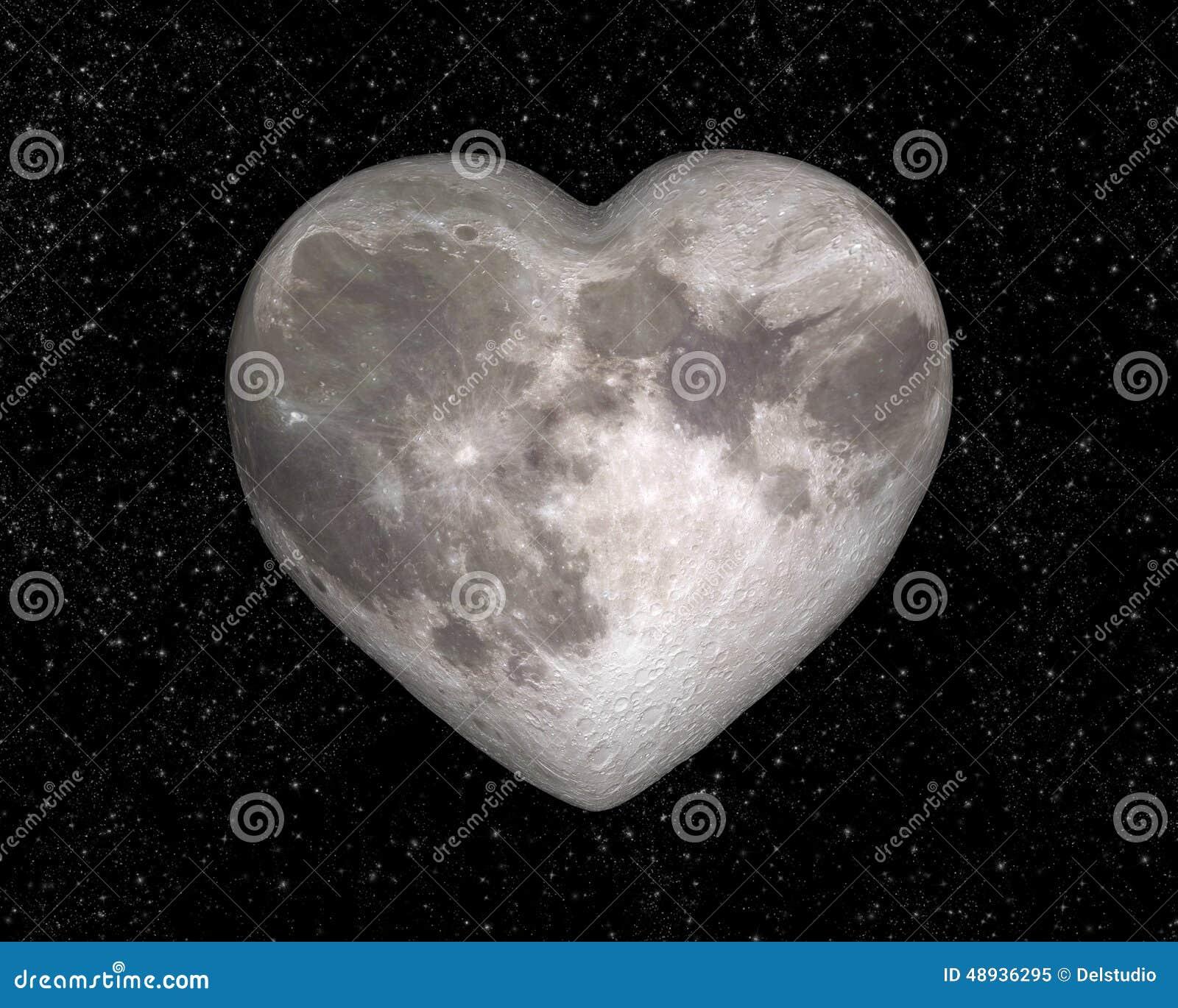 Luna sotto forma di un cuore