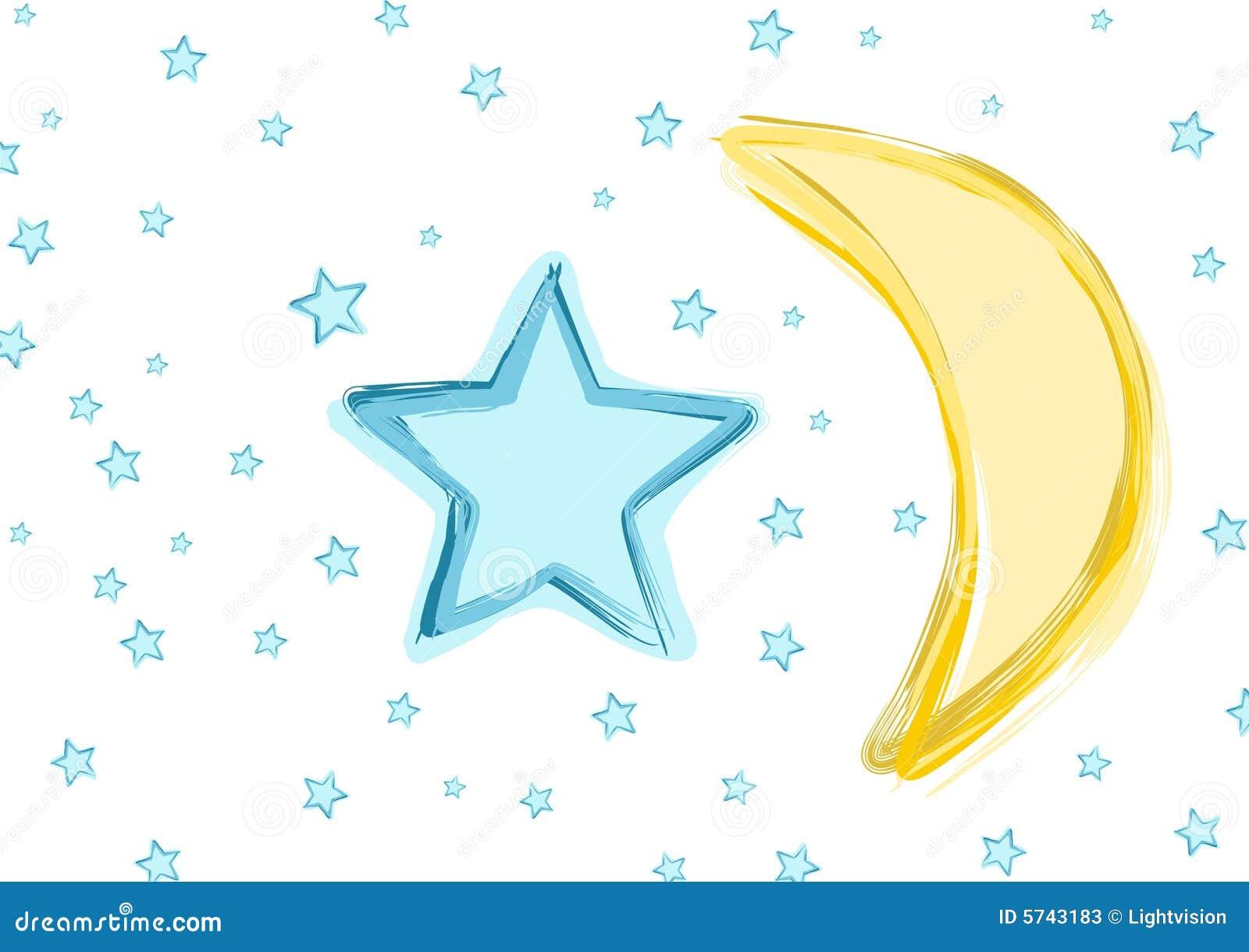 Luna y estrellas del bebé