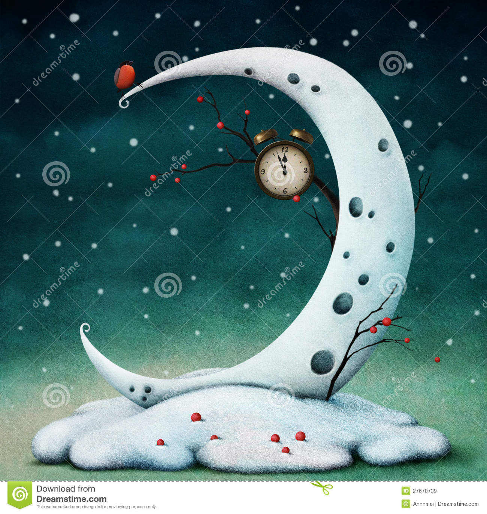 Luna y horas