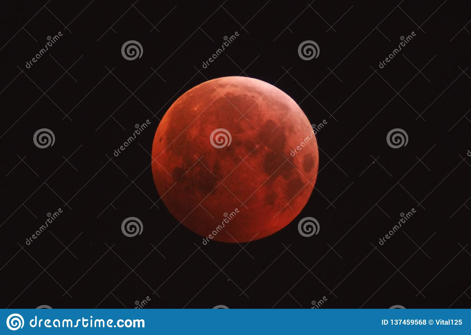 Lunar Eclipse, blood Moon, night sky stars
