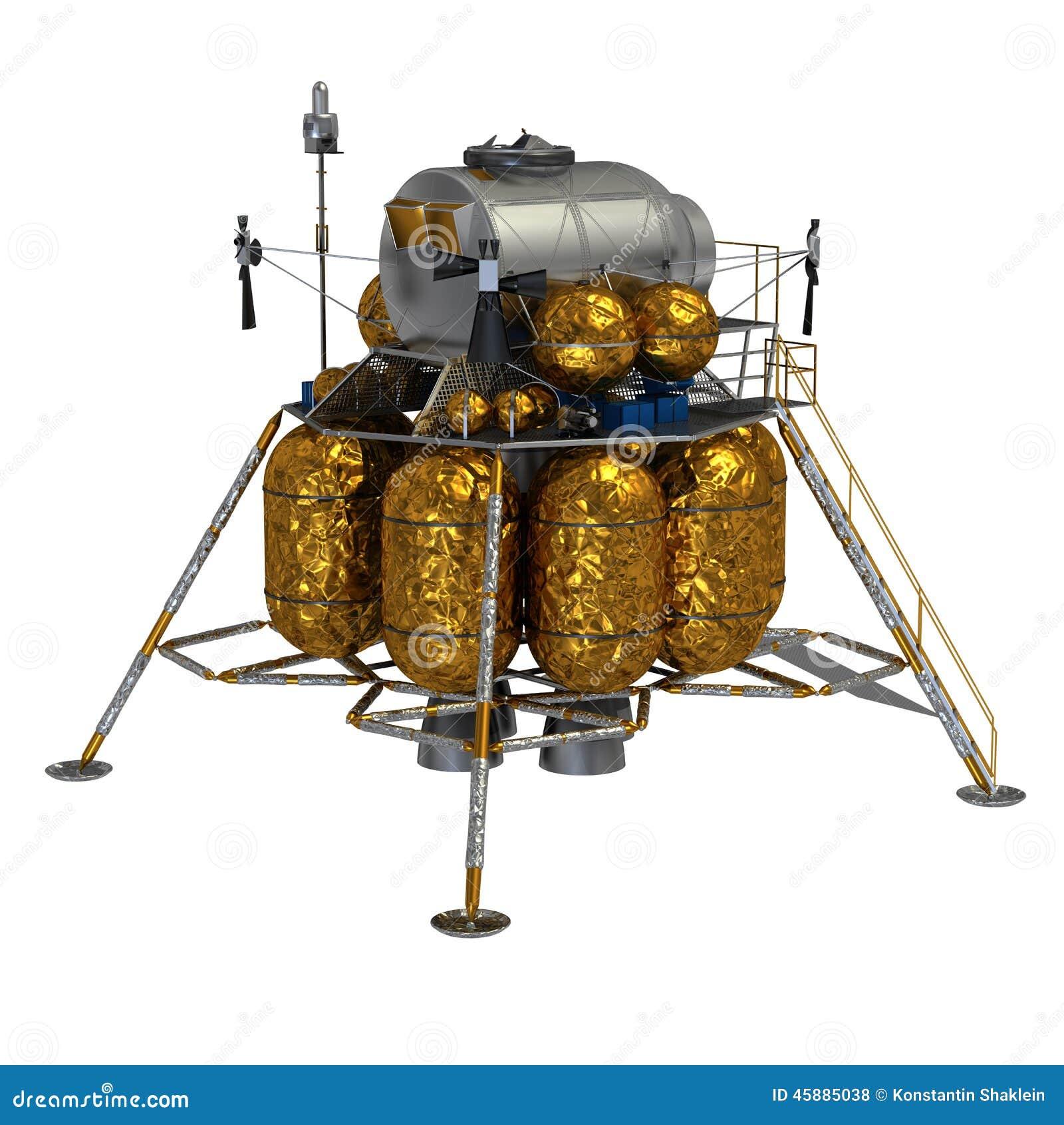 Lunar Lander Stock Illustration Image 45885038