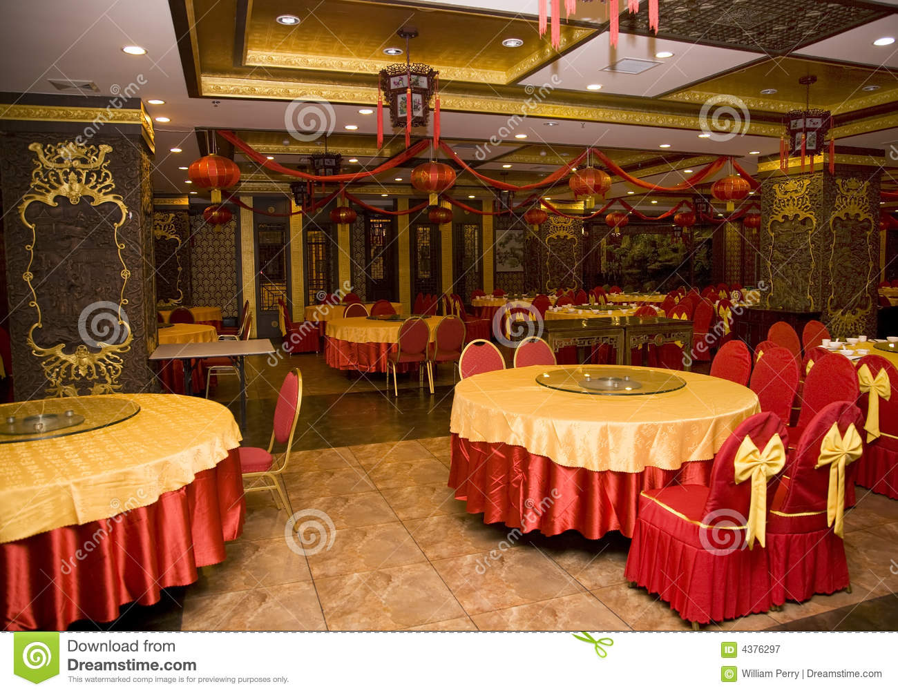 Lunar new year decorations chinese restaurant stock image
