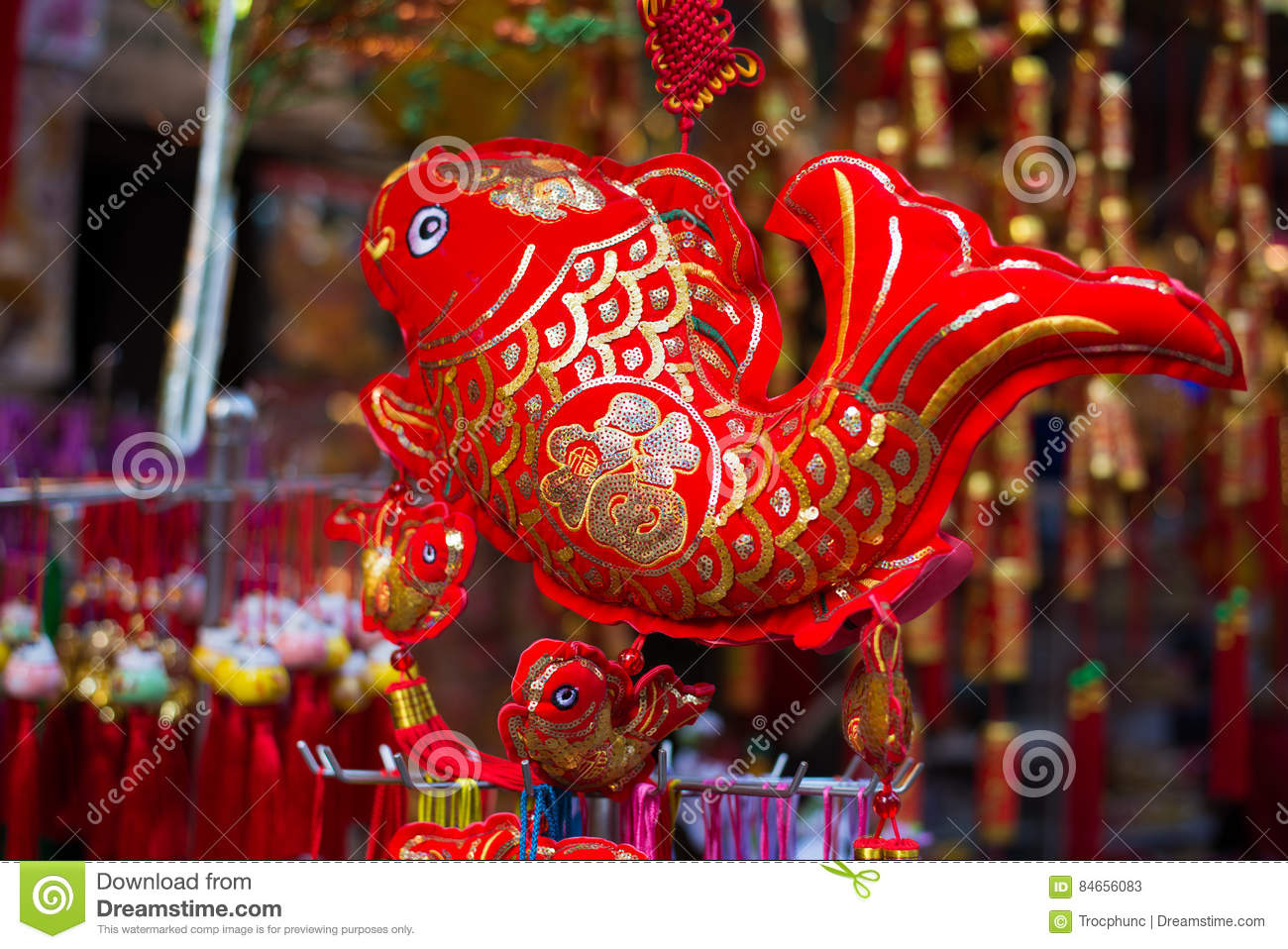 Lunar new year decorations stock image. Image of greeting ...