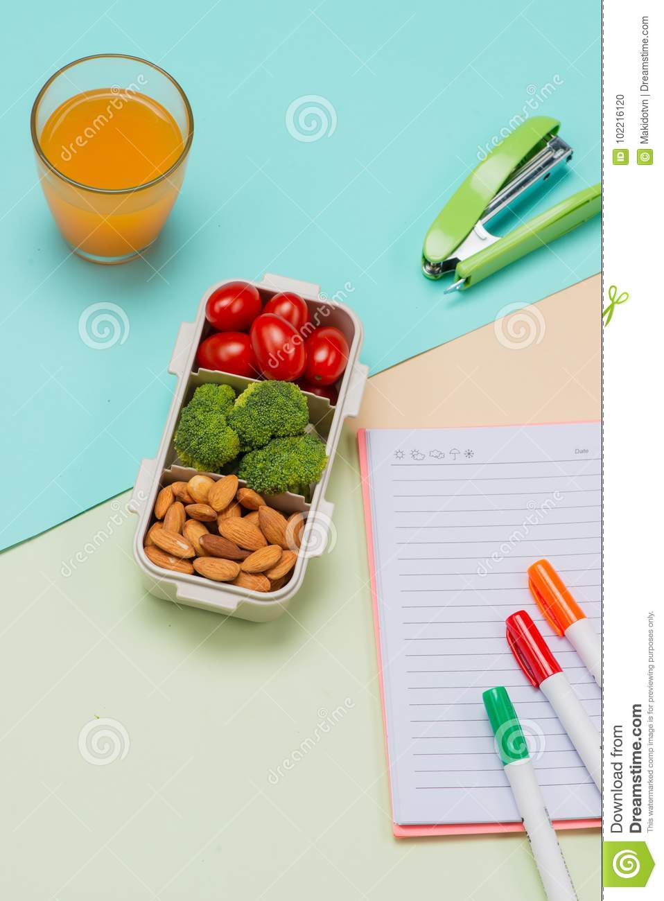 Lunch box and healthy food on isolated backgroundesh vegetables fresh vegetables and blank recipe book download comp forumfinder Image collections
