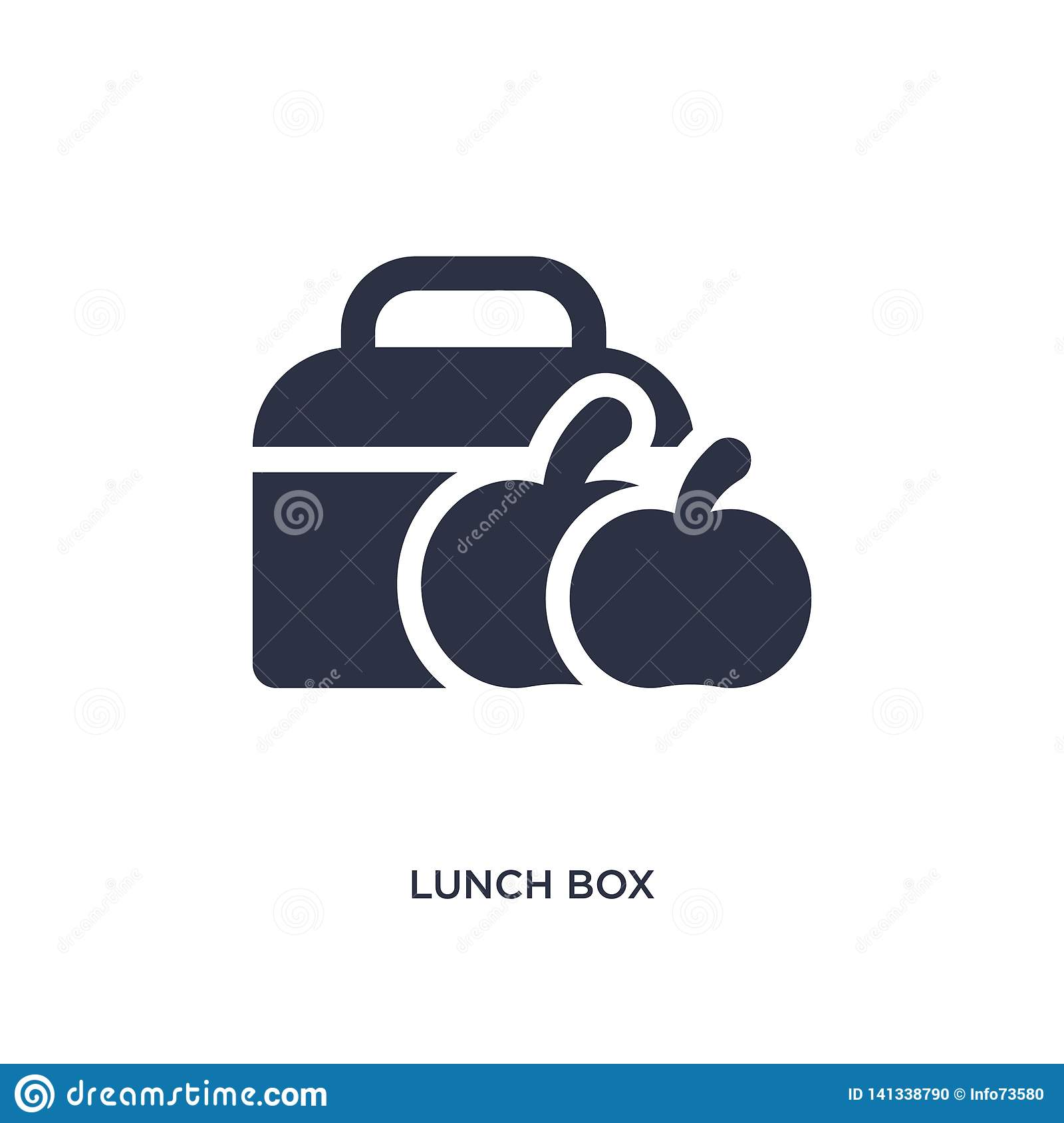 lunch box icon on white background. Simple element illustration from education 2 concept