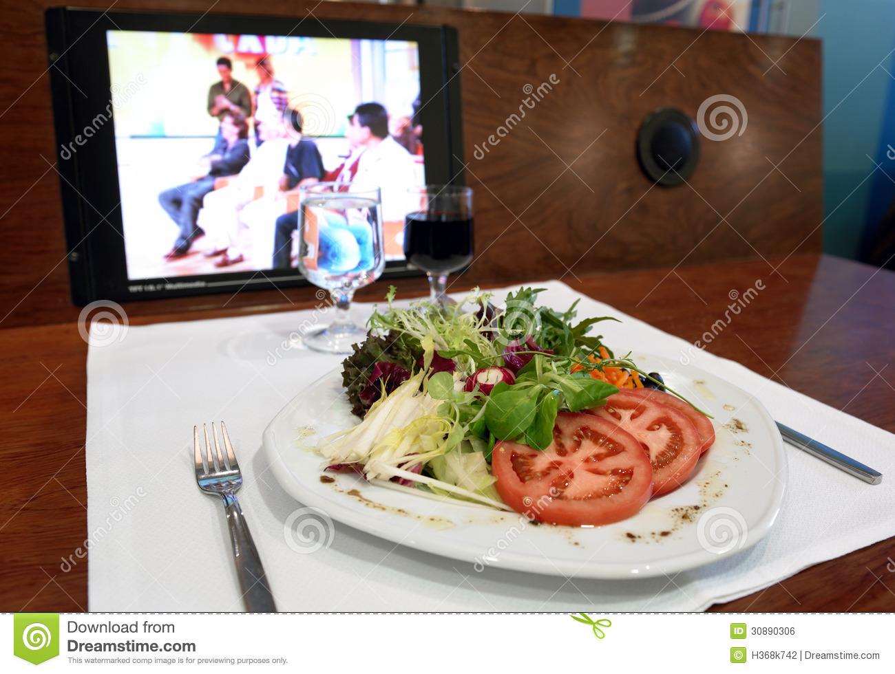 Lunch Break Healthy Food Stock Photo Image Of Meal 30890306