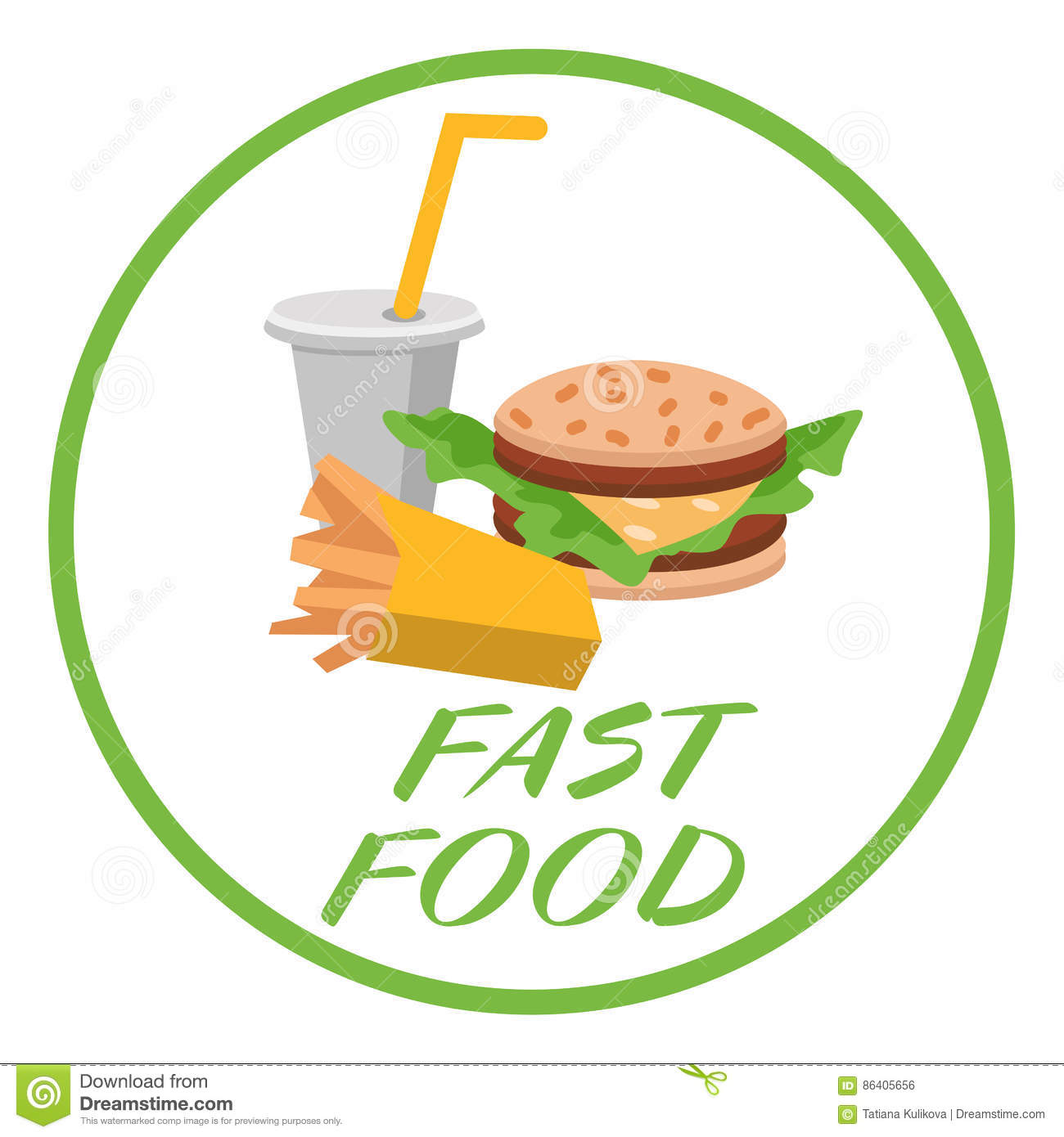 Snack Fast Food Gray