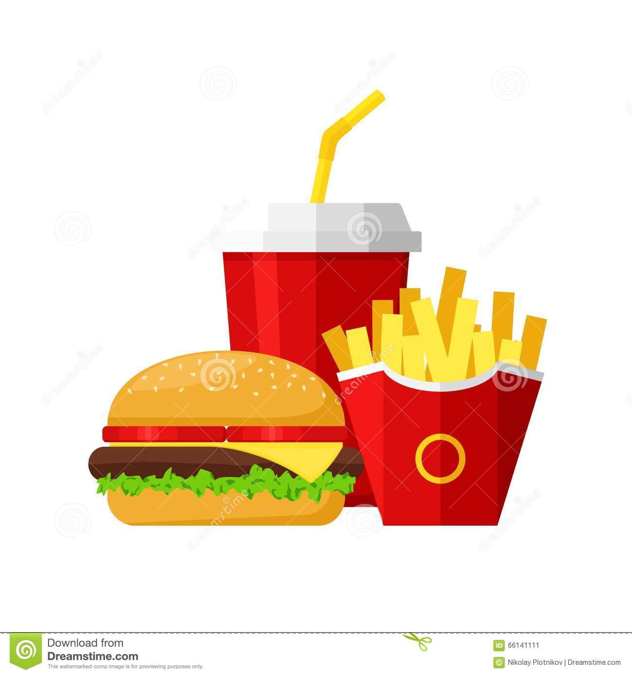 hamburger fast food meal with french fries   soda royalty Template French Fry french fry clipart