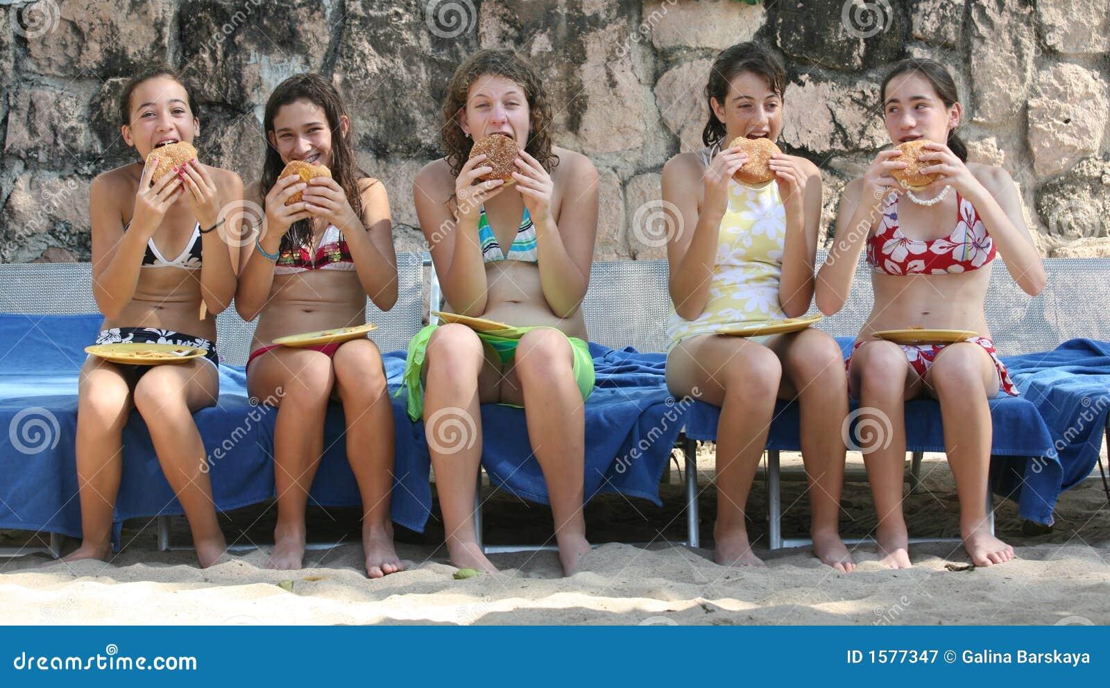 Lunch op het strand