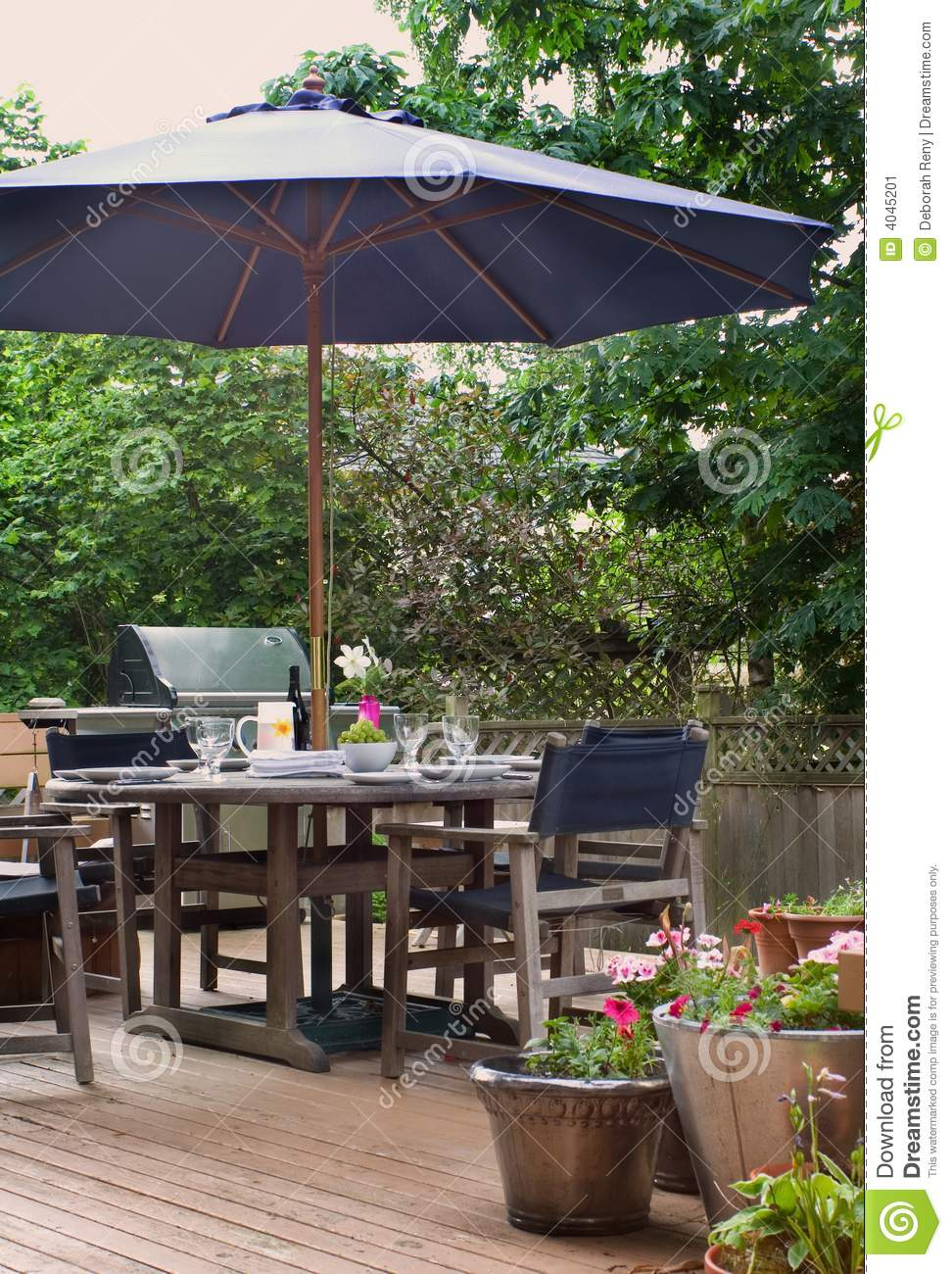 Lunch On The Patio Stock Image Image 4045201