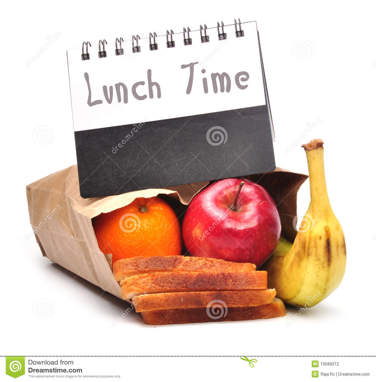 School lunch time concept - path added.