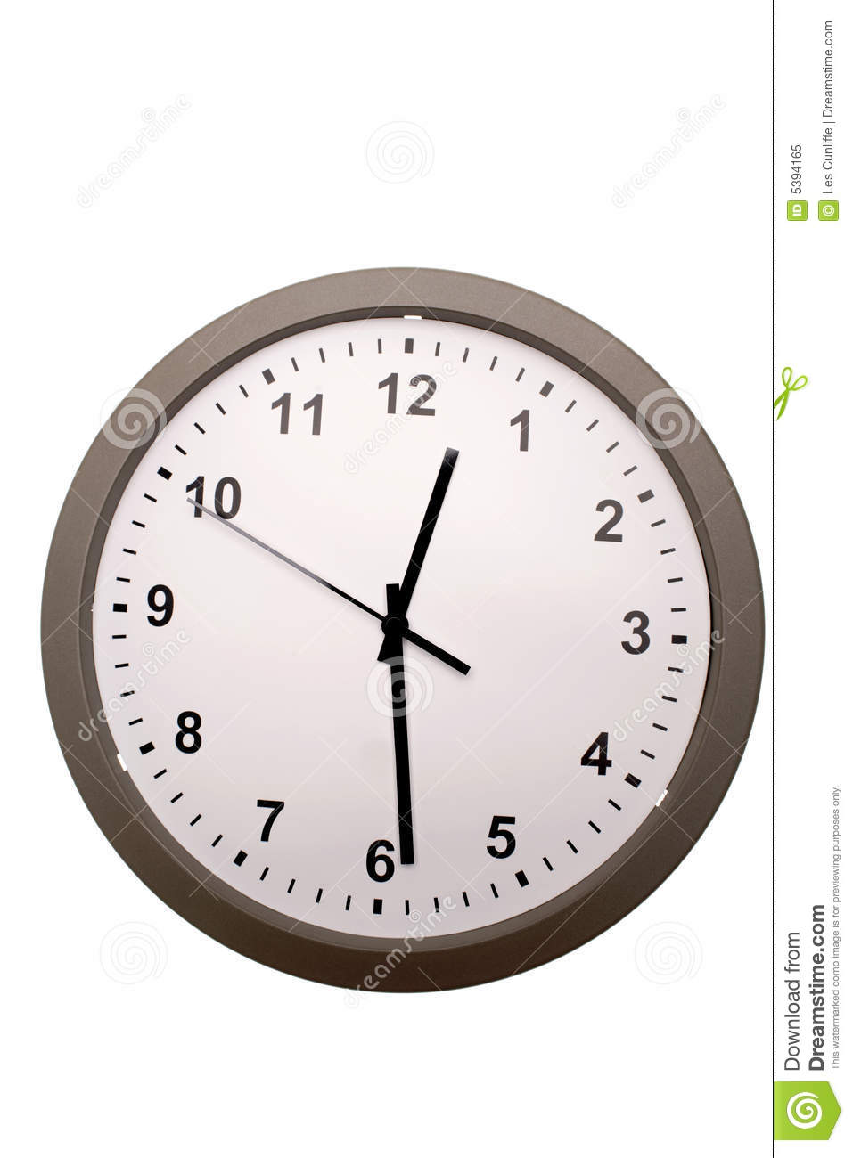 Lunch Time Clock Royalty Free Stock Photo Image 5394165