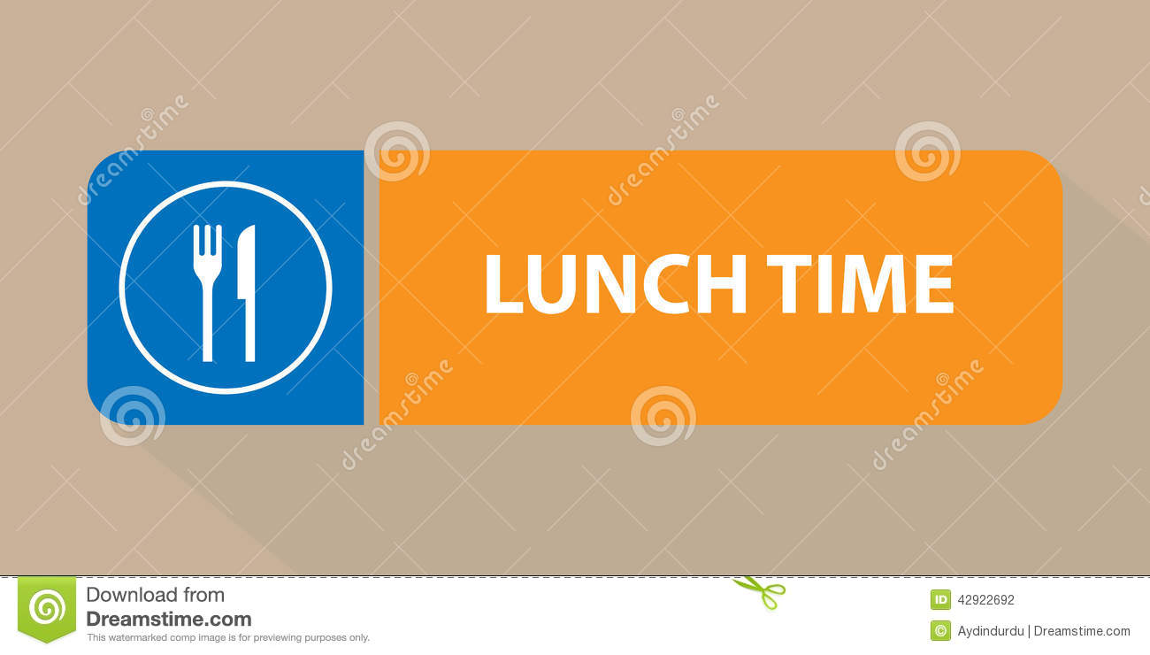 Lunch Time Sign Illustration 42922692