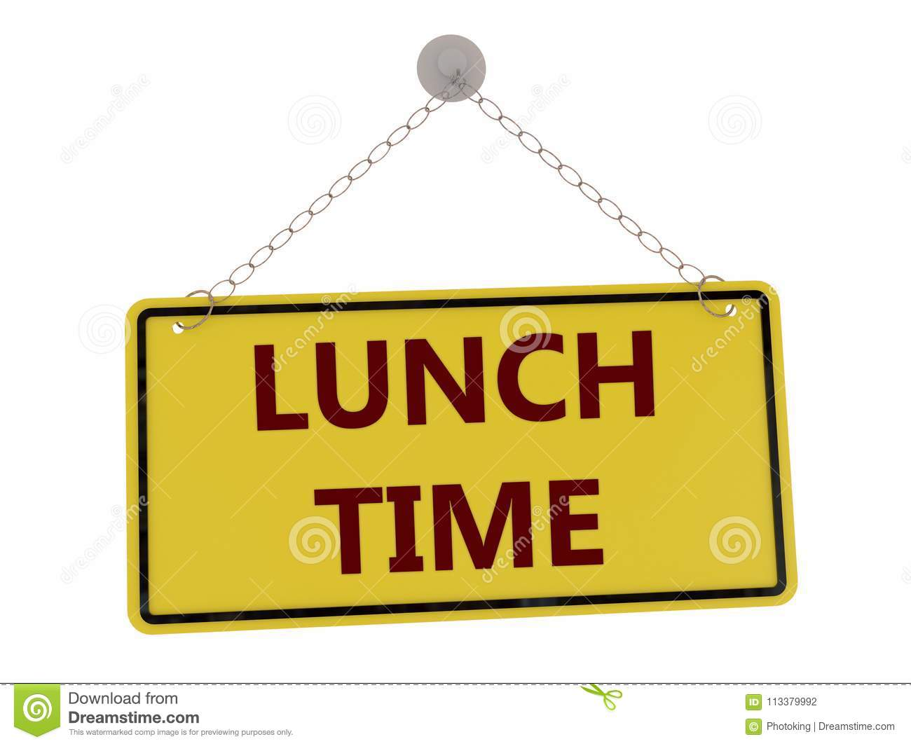 Lunch Time Sign Stock Illustration Of Leisure