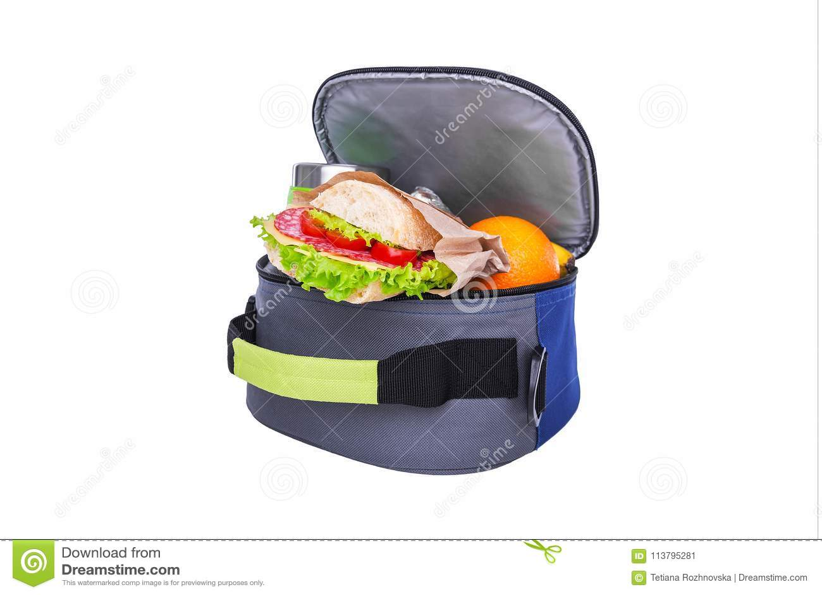 Lunch w torbie dla lunchu