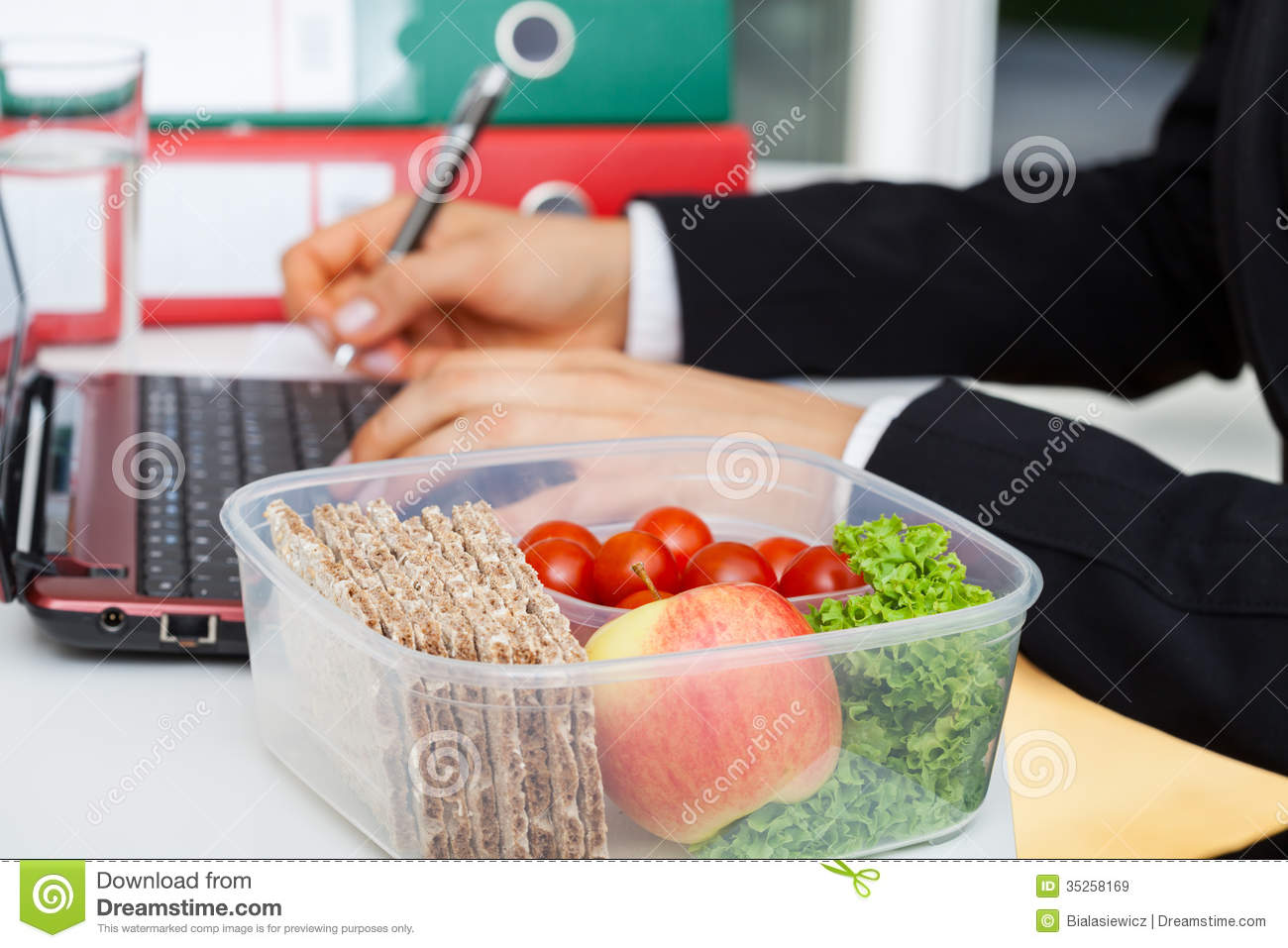 lunchbox at work stock image image of service breakfast 35258169. Black Bedroom Furniture Sets. Home Design Ideas