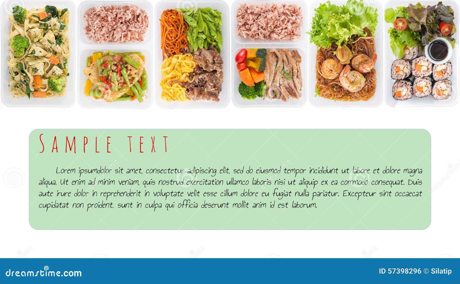 Lunchdoos op wit