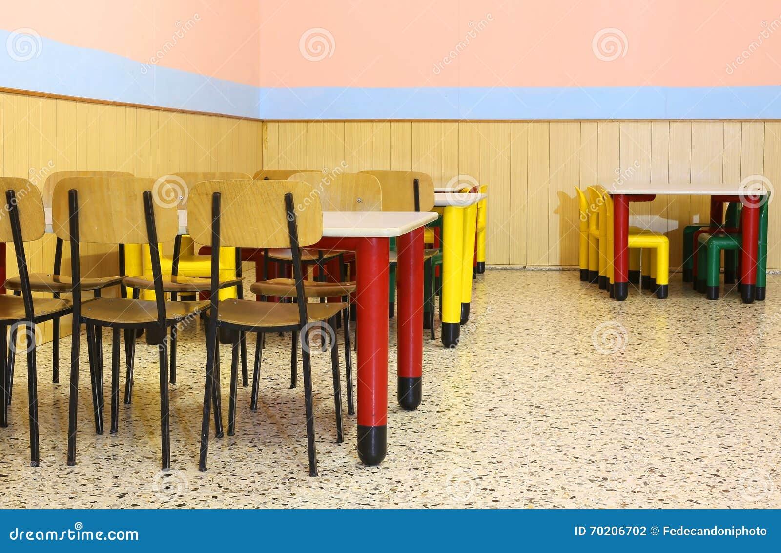 Del Cuarto De Mesa Sillas Niños Lunchroom Las Con Pequeñas Y H9eIDWYE2b