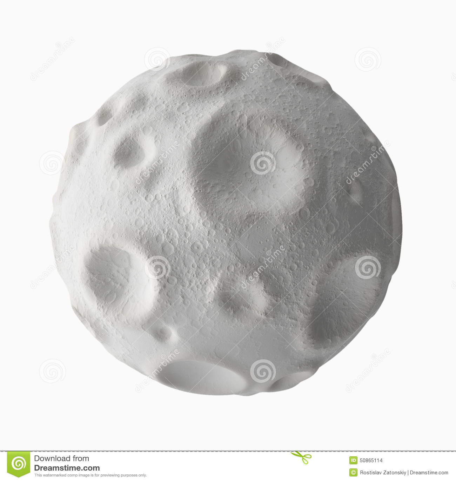 Lune avec des cratères sur la surface