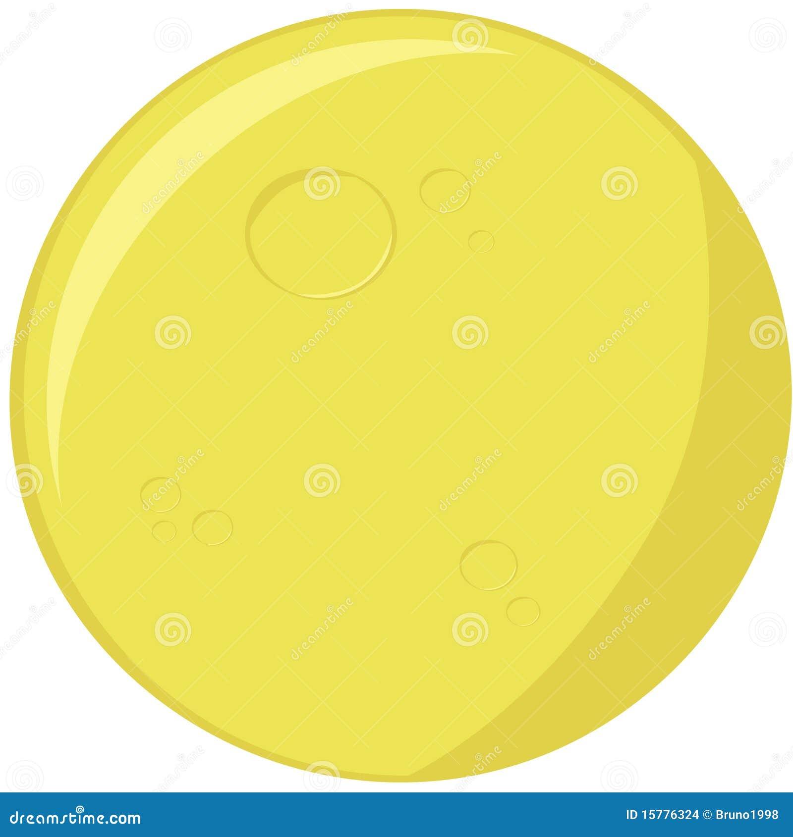 Lune de dessin anim illustration de vecteur illustration - Dessin de lune ...