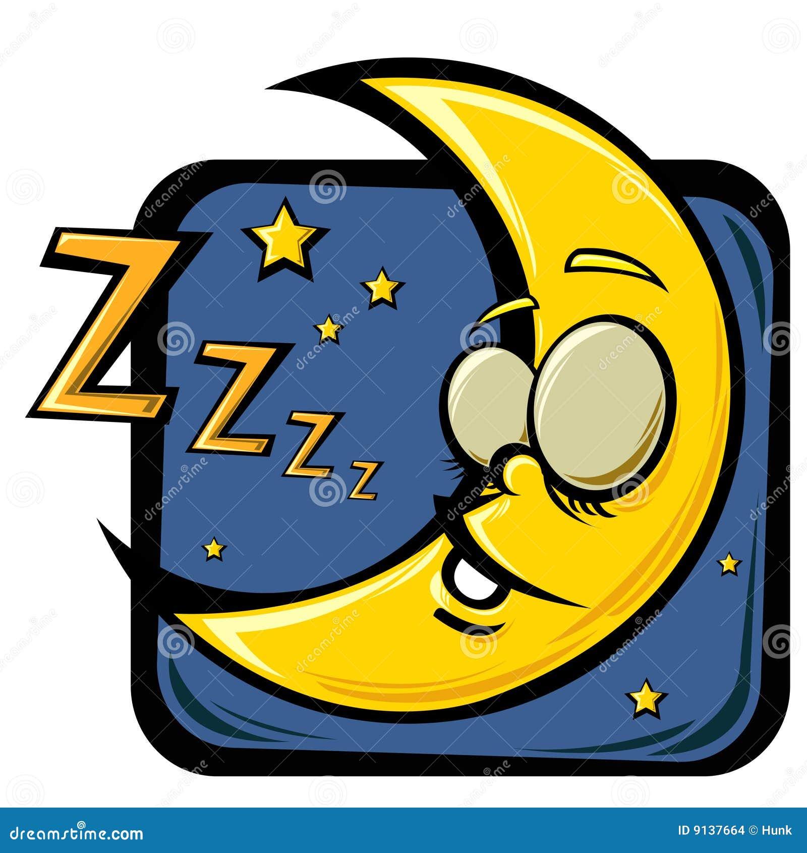 Lune de sommeil de dessin anim images stock image 9137664 - Dessin de lune ...